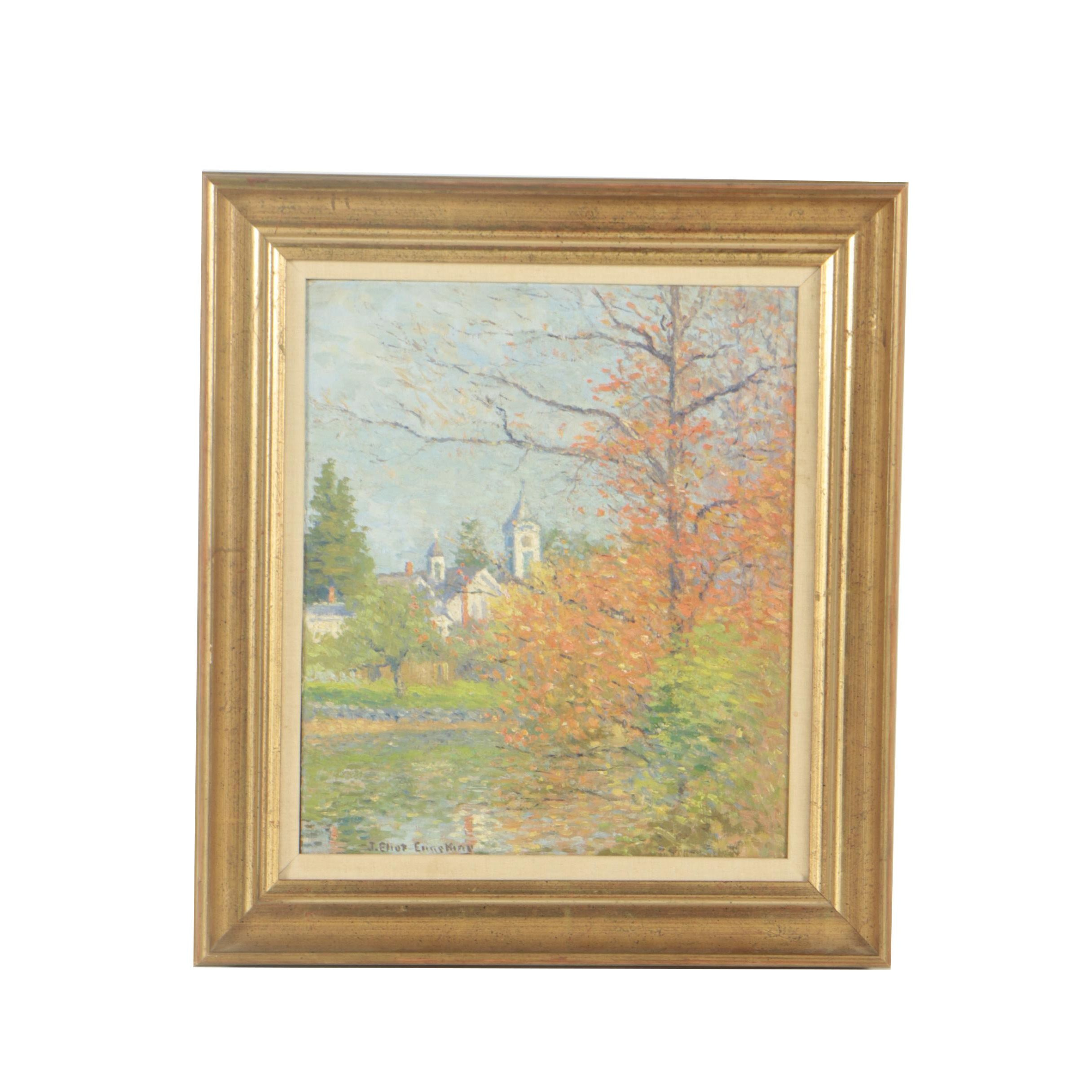 Joseph Eliot Enneking Oil Painting