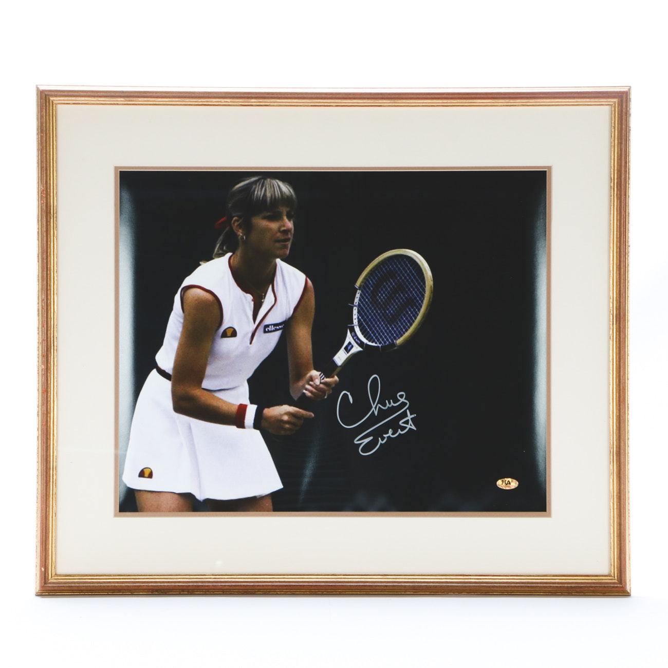 Chris Evert Signed Wimbledon Photo Print  COA