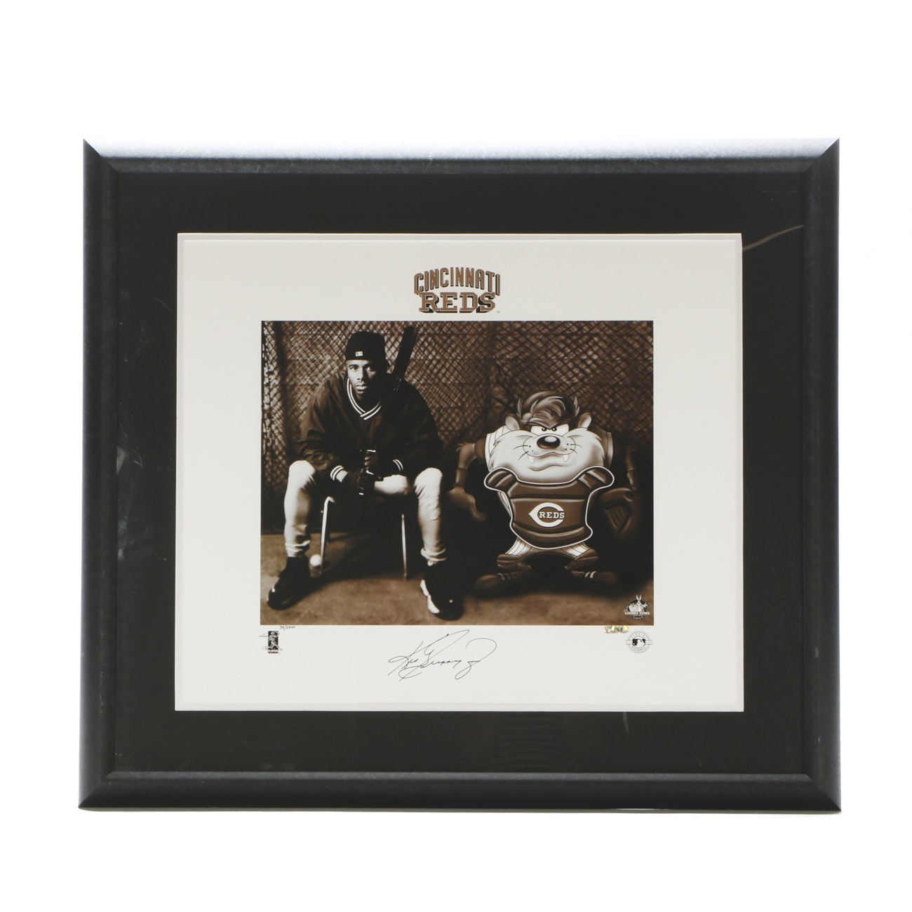 Ken Griffey Jr. Signed Reds Looney Tunes Item  COA