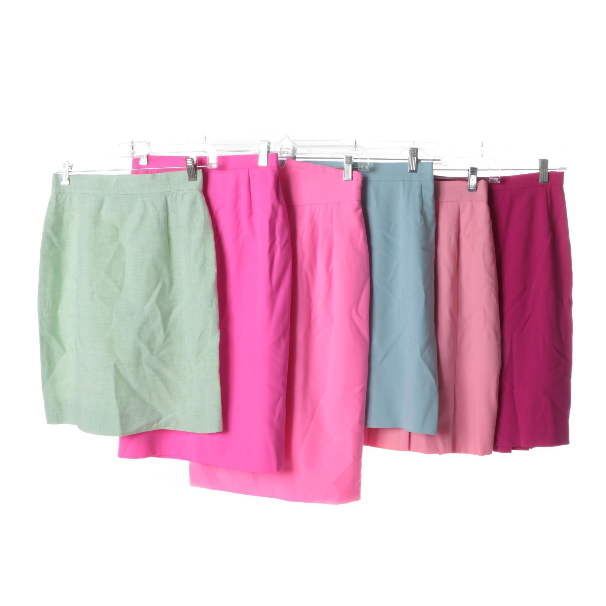 Escada by Margaretha Ley Wool and Linen Pencil Skirts
