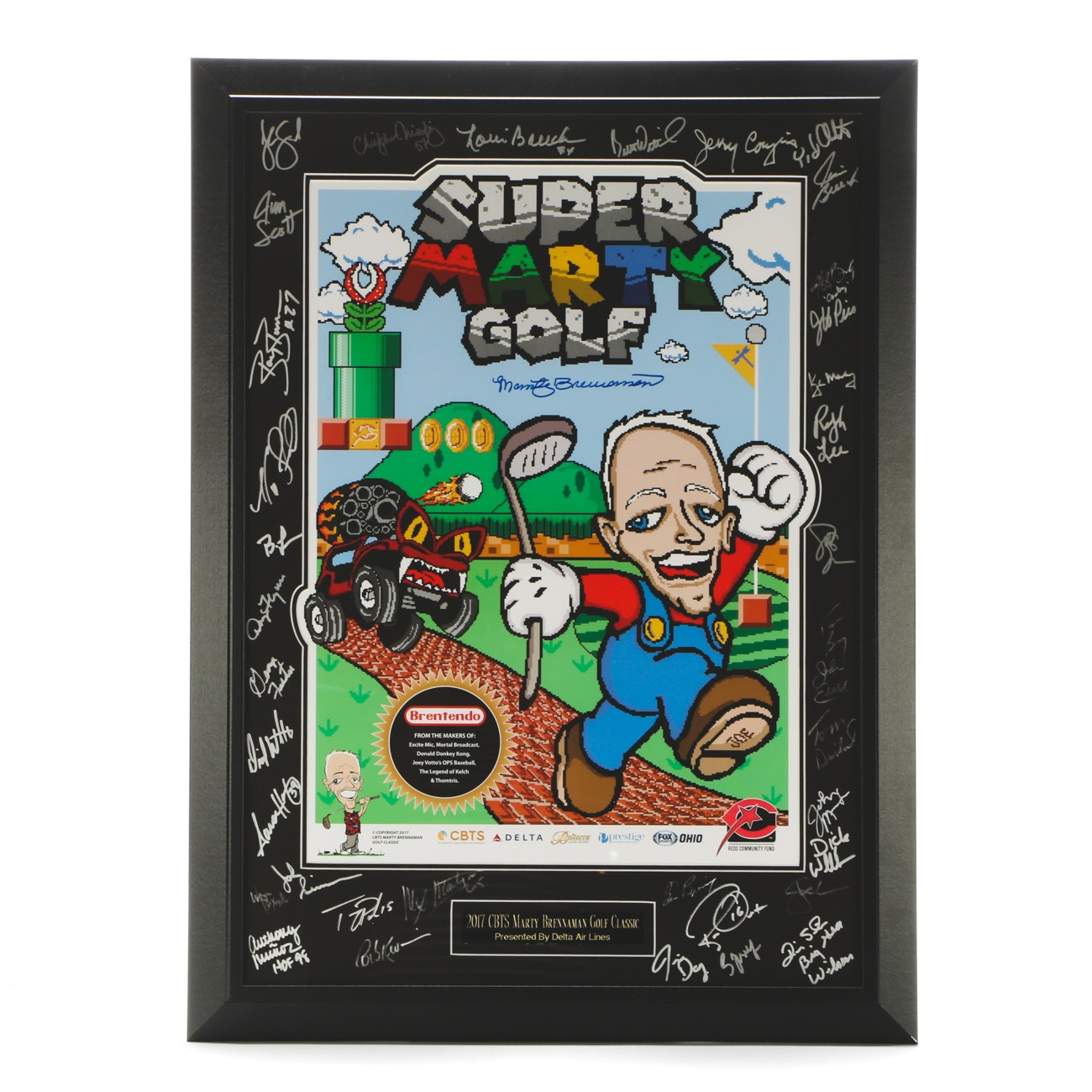 Marty Brennaman and Friends Signed Golf Classic Print