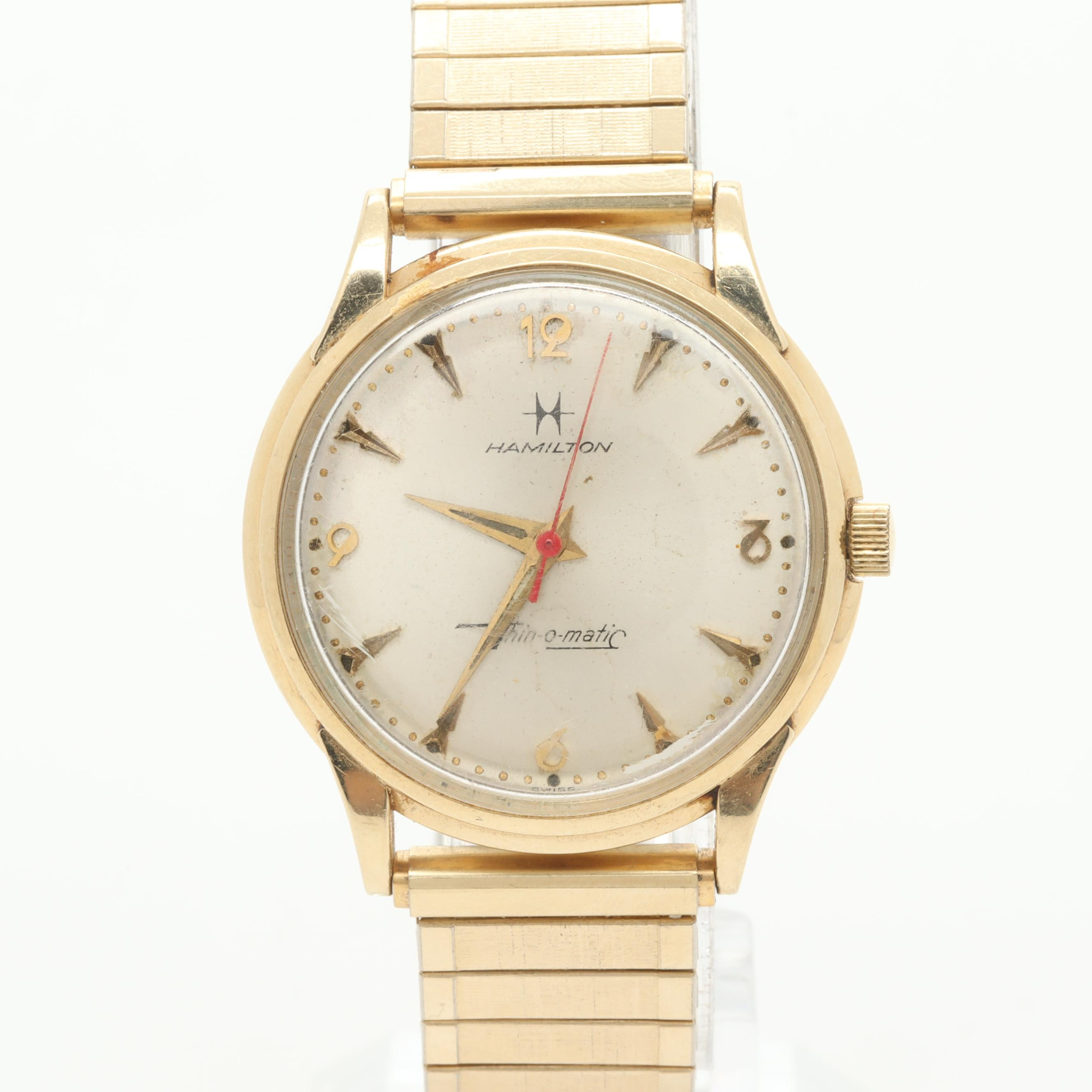 Hamilton 14K Yellow Gold Wristwatch with Expansion Band