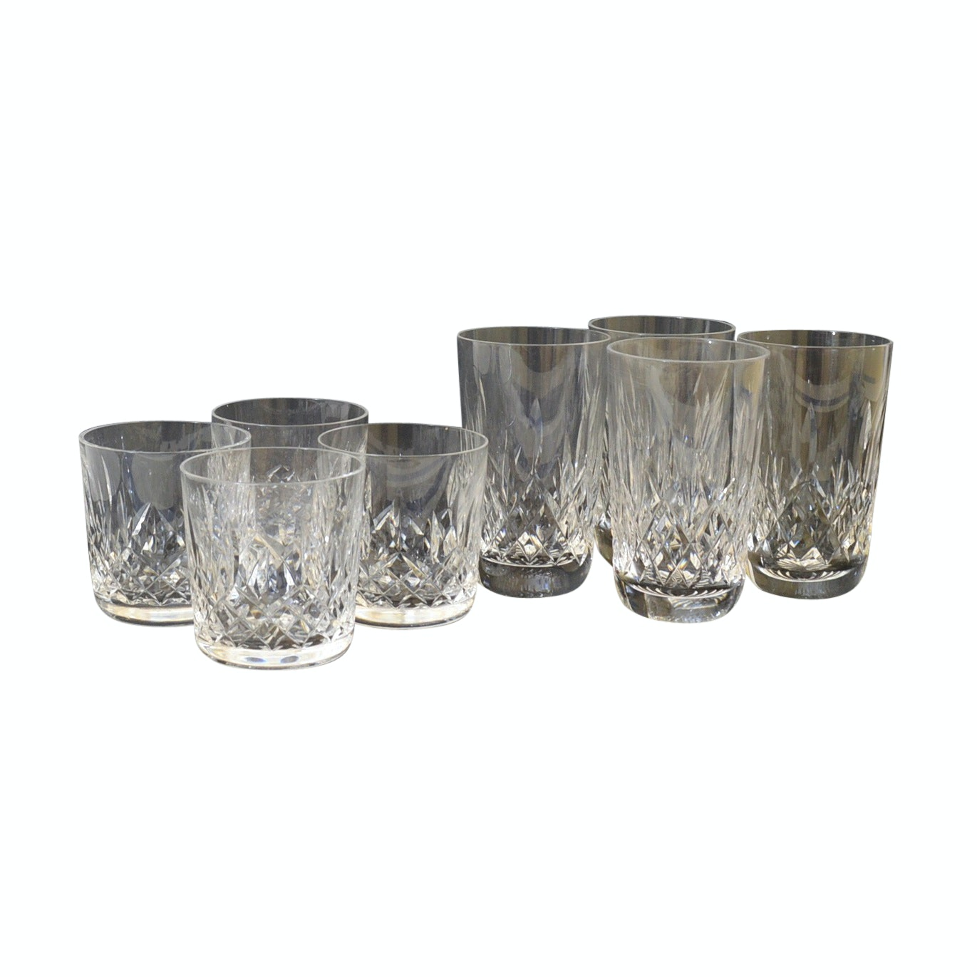 """Waterford Crystal """"Lismore"""" Old Fashioned Glasses and Tumblers"""
