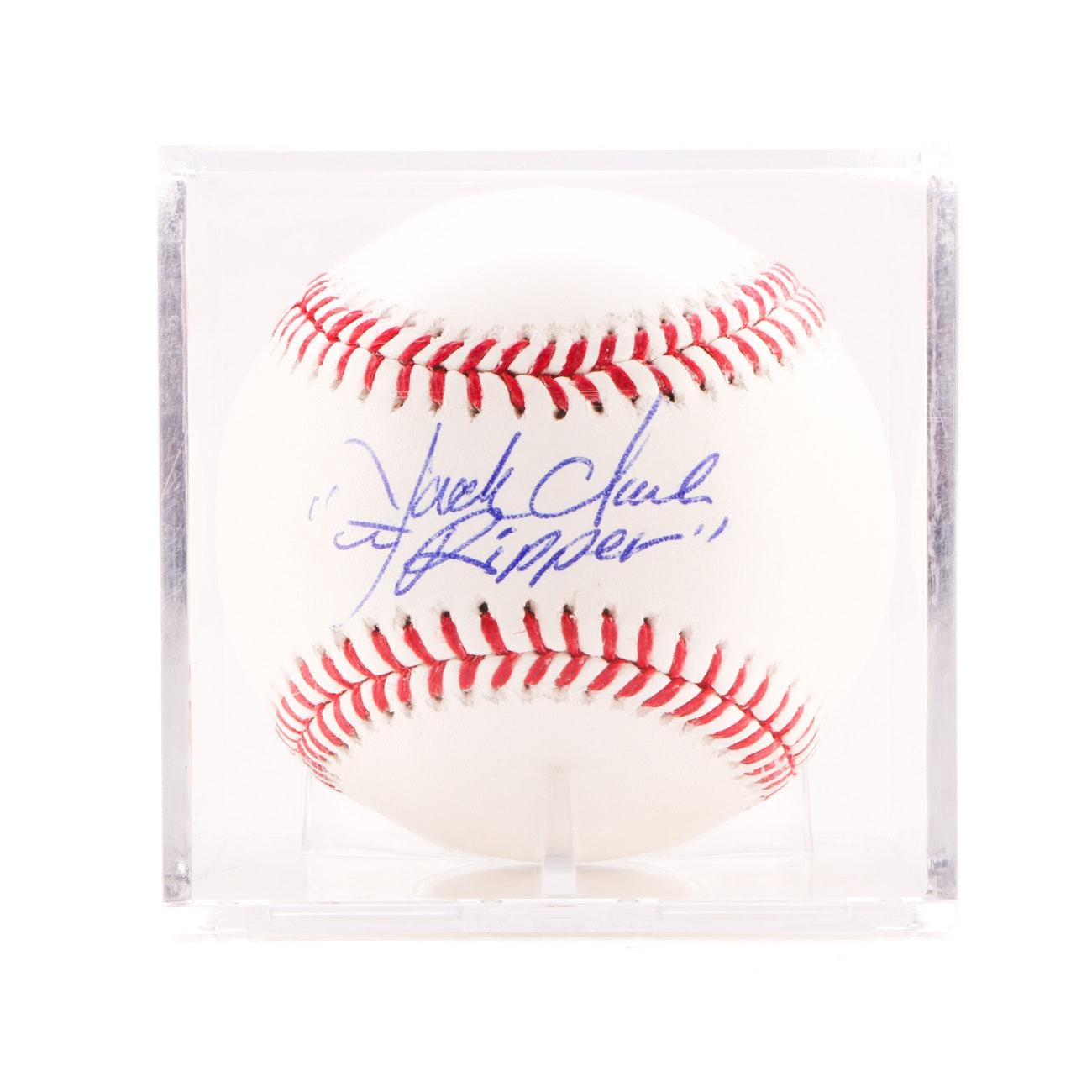 Jack Clark Signed Rawlings MLB Baseball JSA COA
