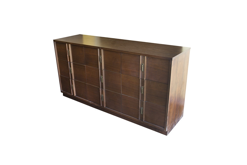 Vintage Mid Century Modern Walnut Dresser by Style House