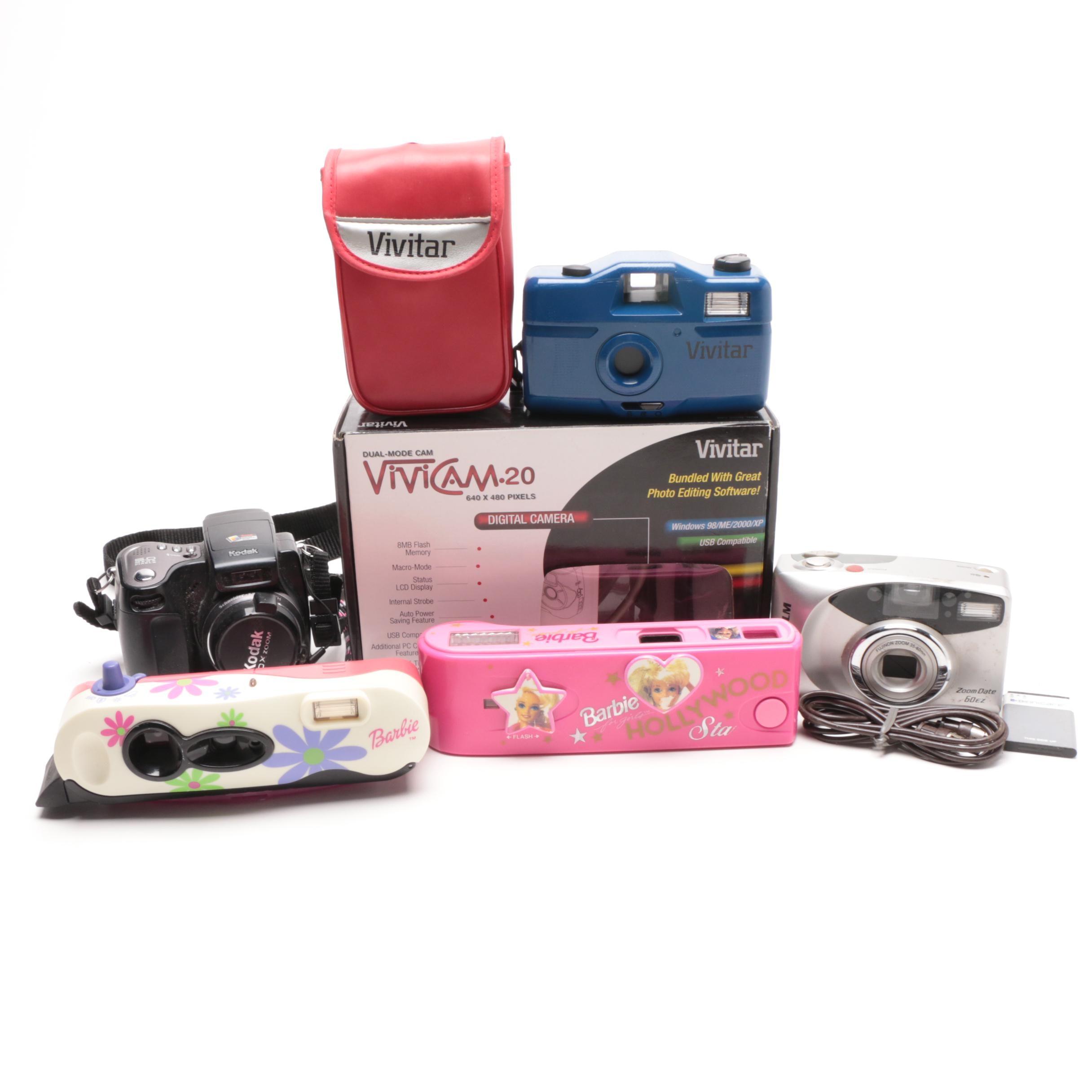 Vintage Pocket and Still Camera Grouping