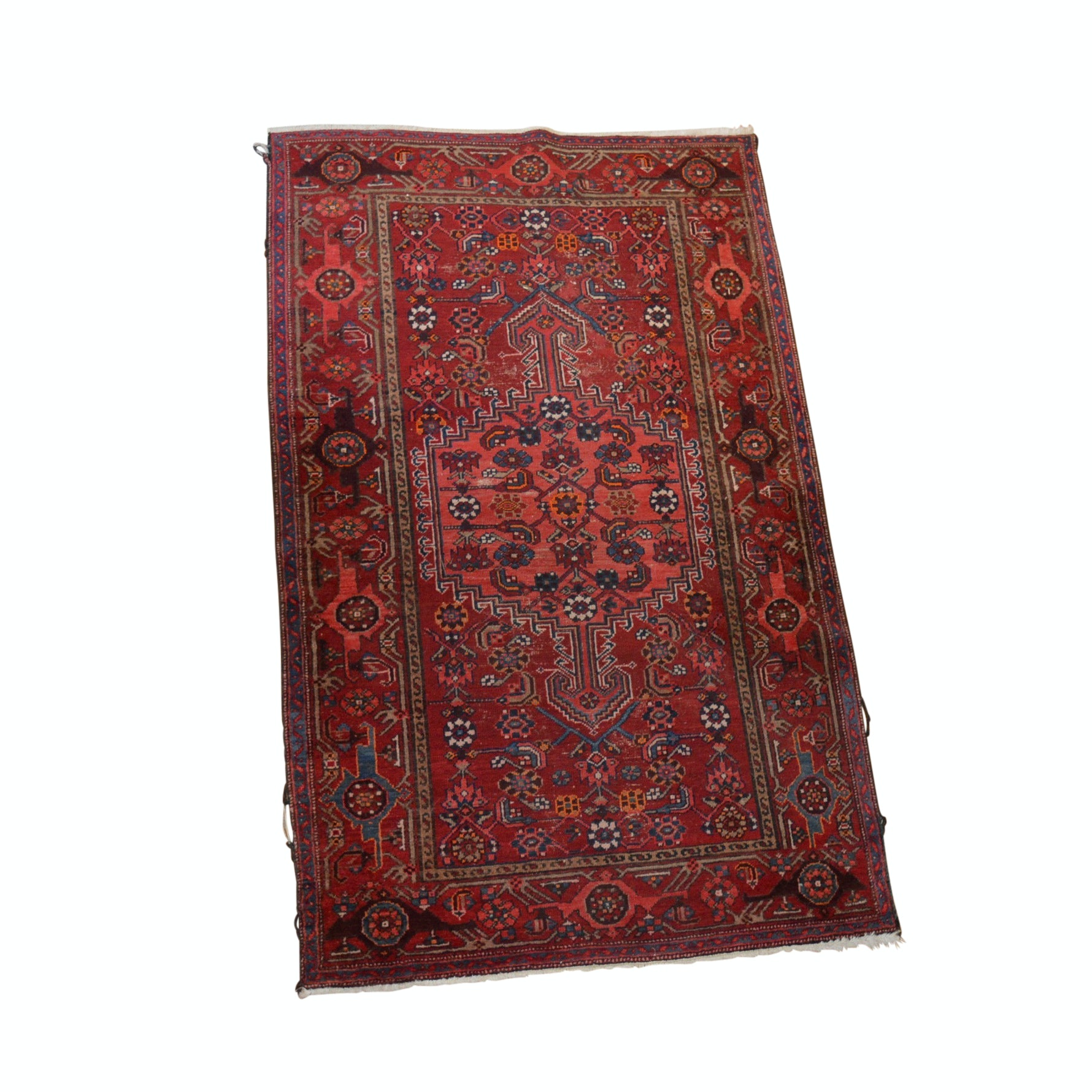 Hand- Knotted Persian Zanjan Wool Area Rug