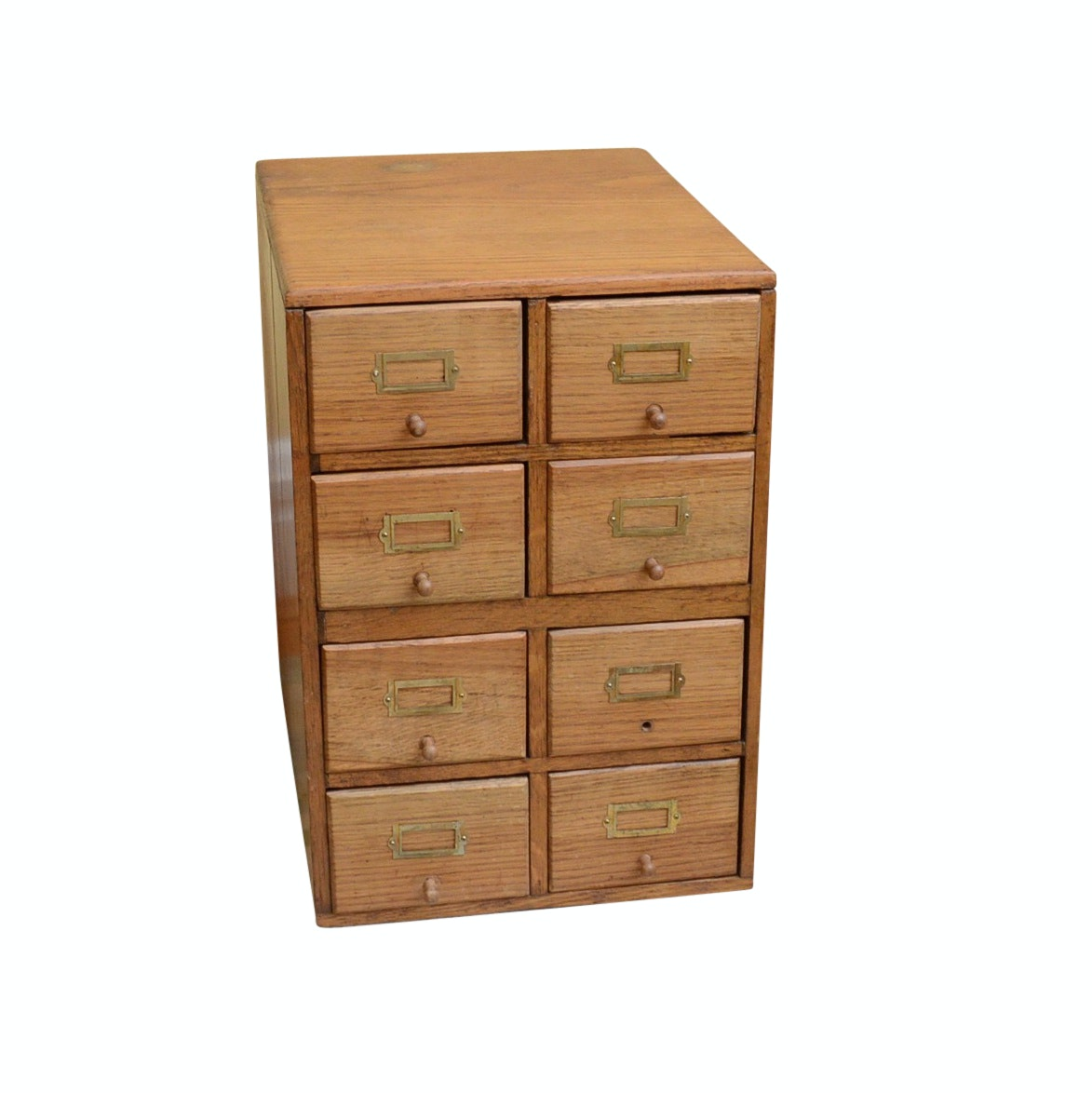 Eight Drawer Oak Card Cataloger
