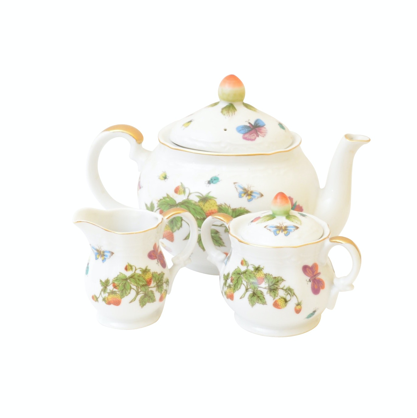 Hand-Painted Ardalt Tea Service Set and Assorted Tableware