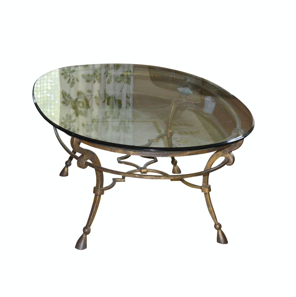 Glass and Iron Coffee Table from Closson's