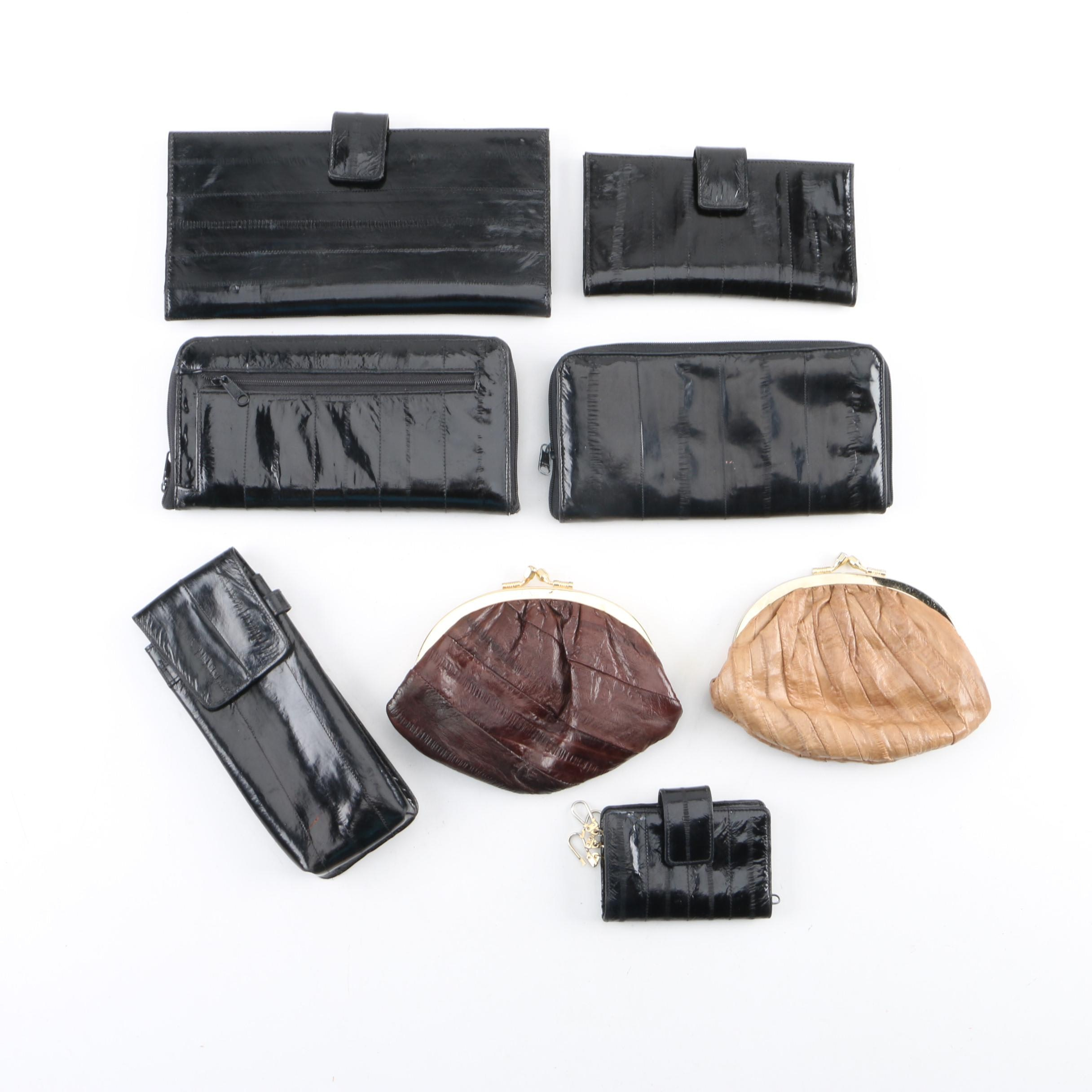 Vintage Eel Skin Clutches, Wallets and other Accessories