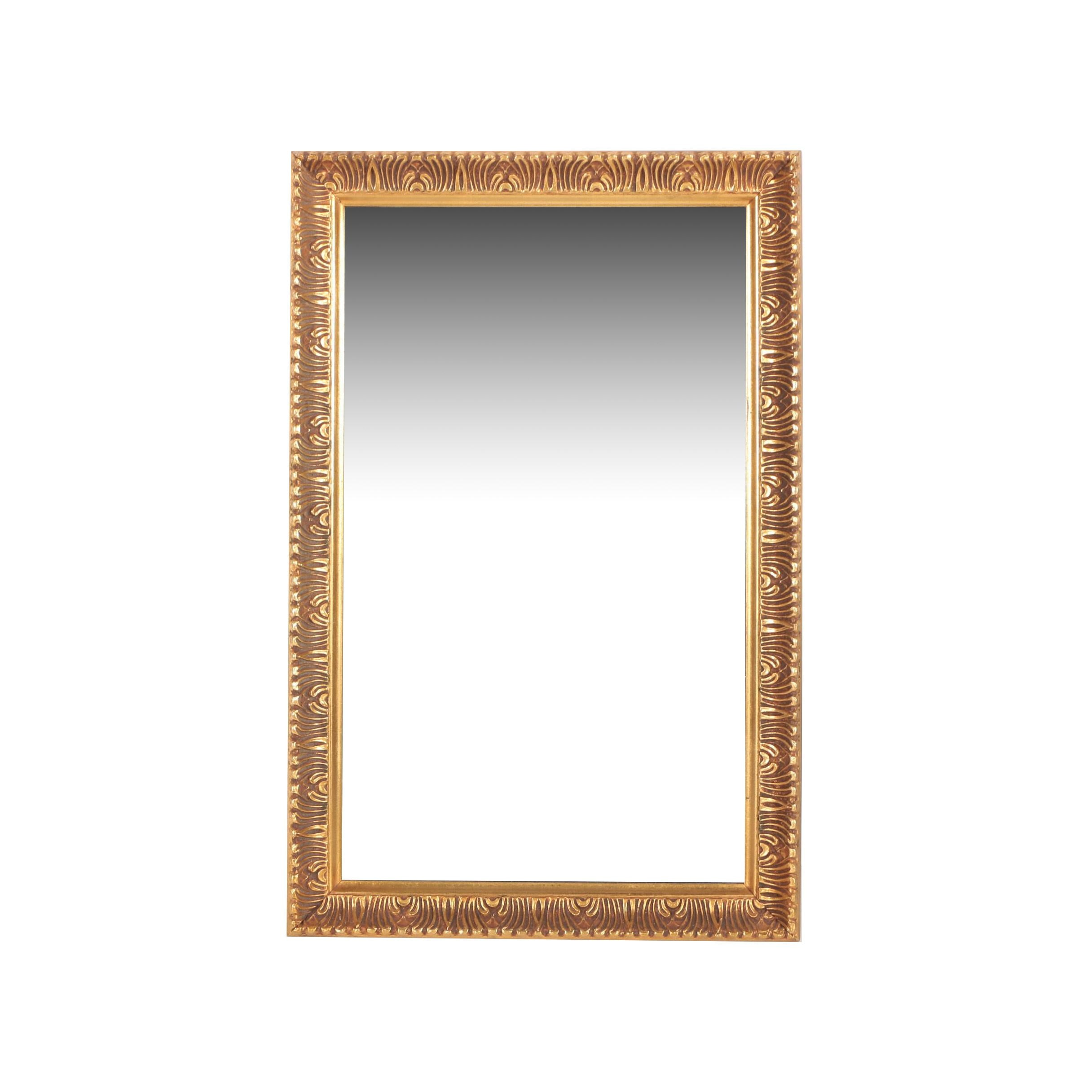 Gilt Finished Molded Wooden Framed Wall Mirror by Illinois Moulding Co.