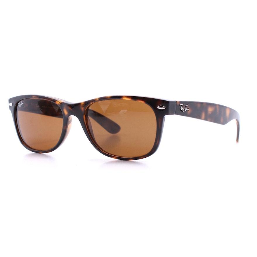 9c5112294c Ray-Ban New Wayfarer Sunglasses in Tortoise Acetate