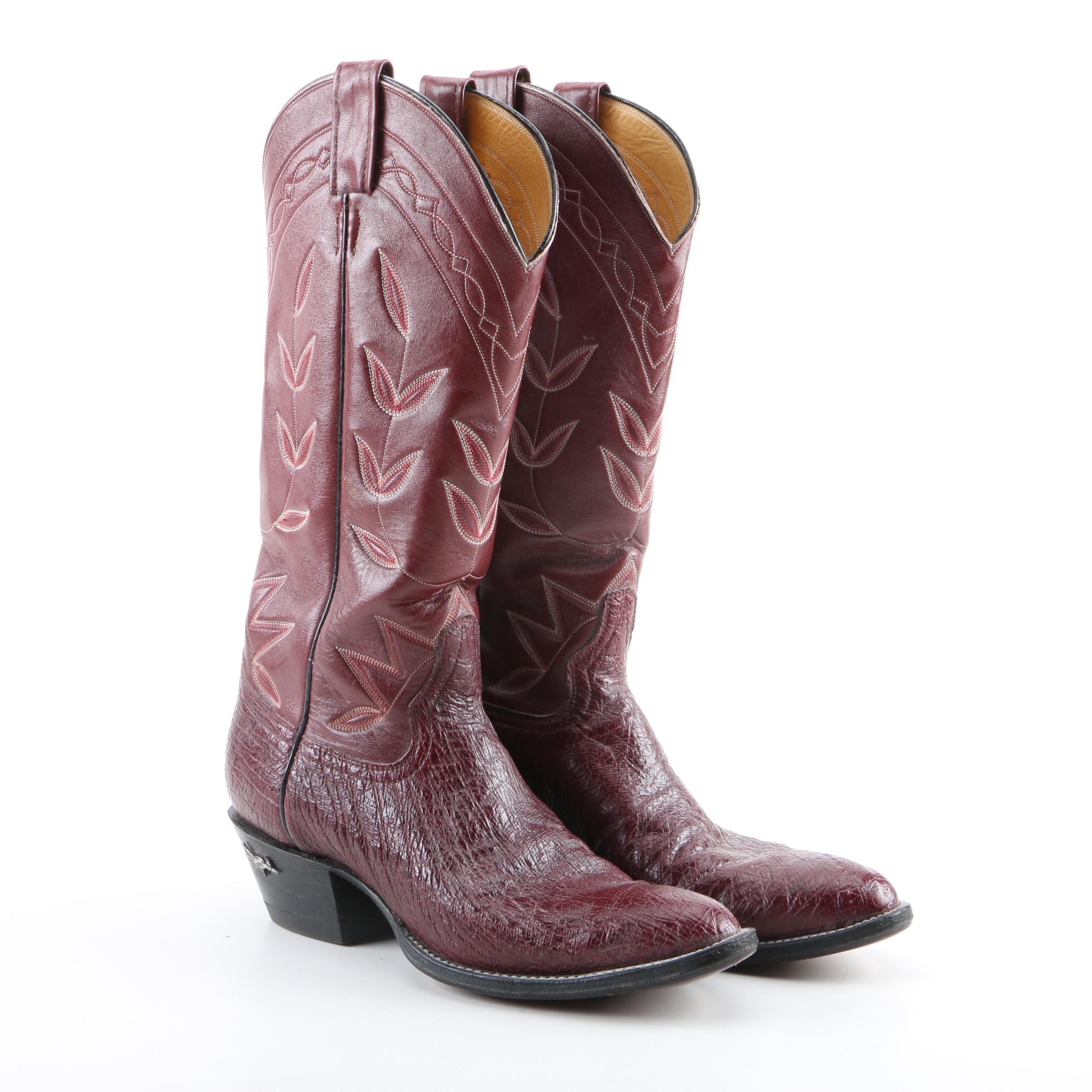 Women's Laramie Burgundy Leather Western Boots