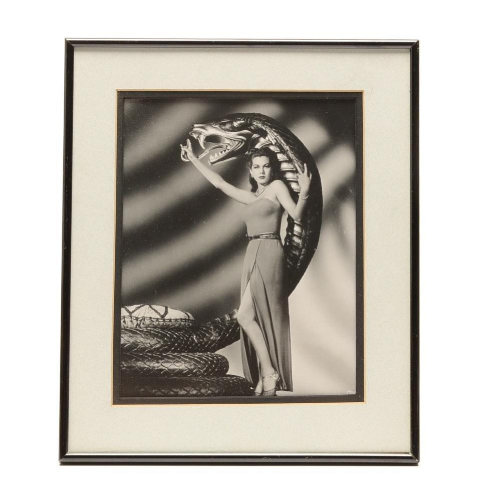 "Black & White Photograph of Maria Montez in ""Cobra Woman"""