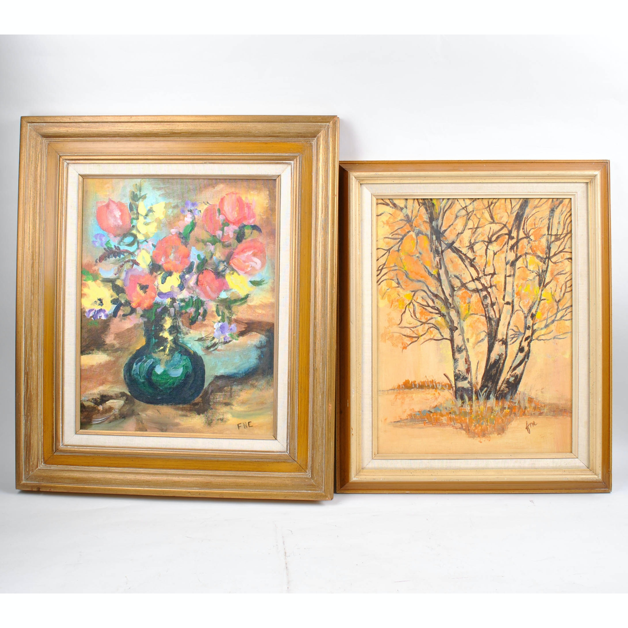 Still Life and Landscape Oil Paintings on Canvas Board