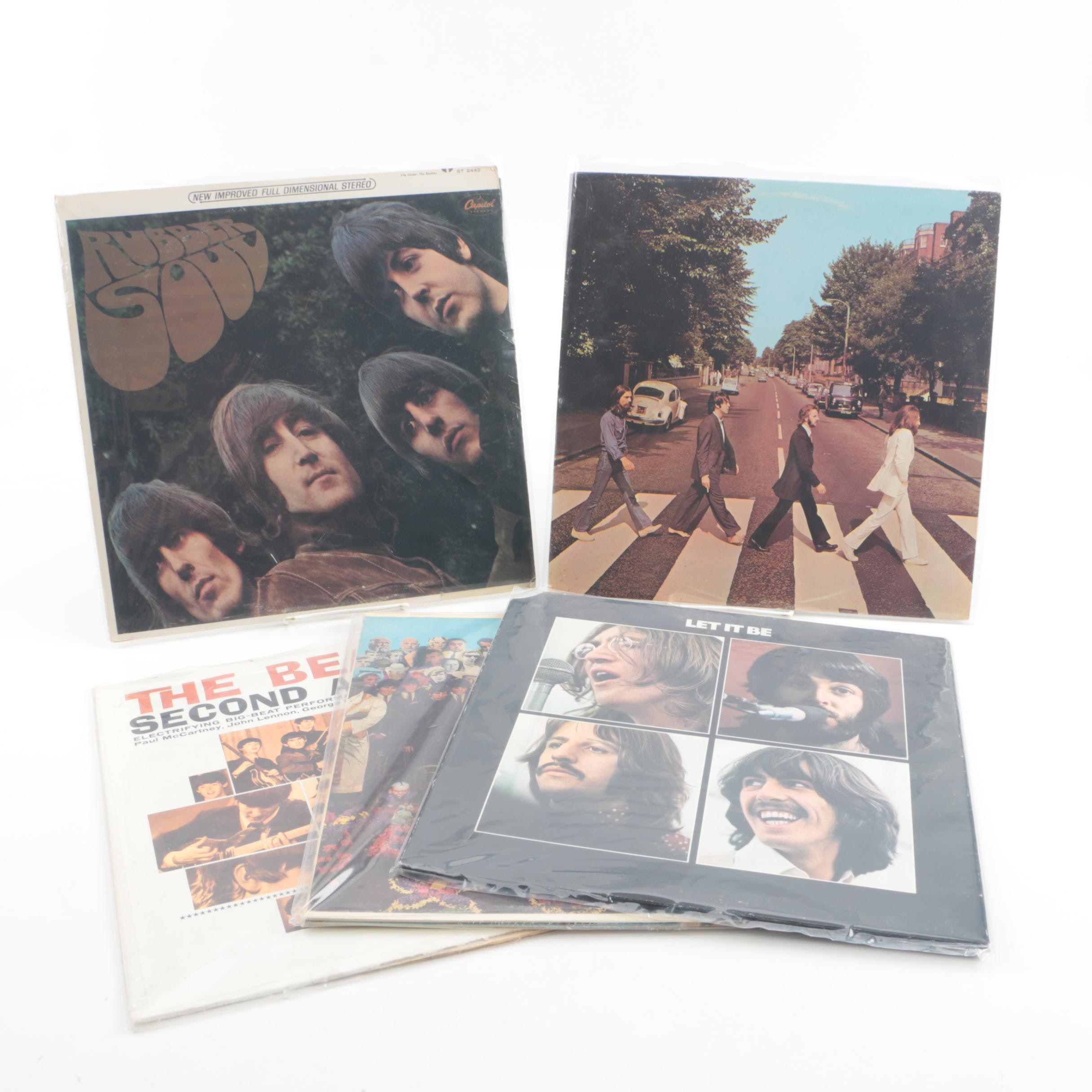 """Beatles Records on Capitol and Apple Including """"Abbey Road"""" and """"Let It Be"""""""