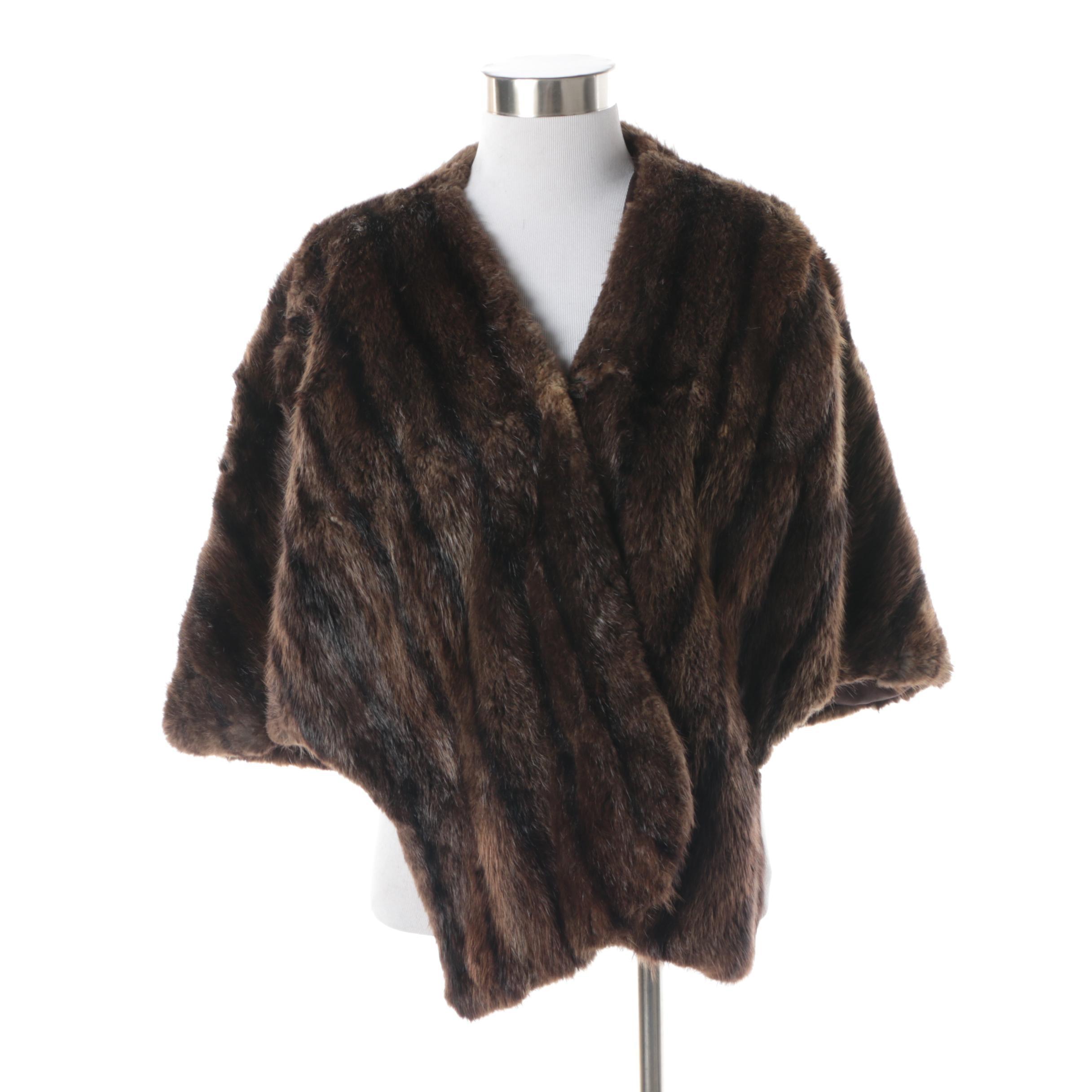 Vintage Morton's Dyed Beaver Fur Stole