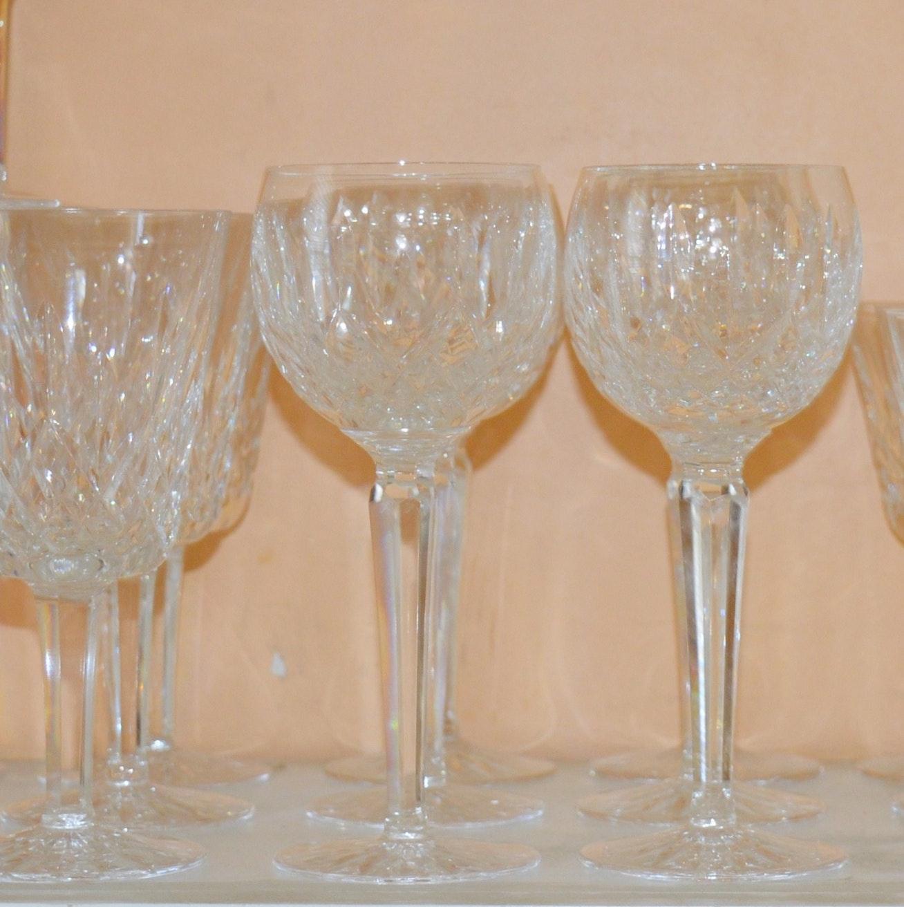"""Waterford Crystal """"Lismore"""" Stemware"""