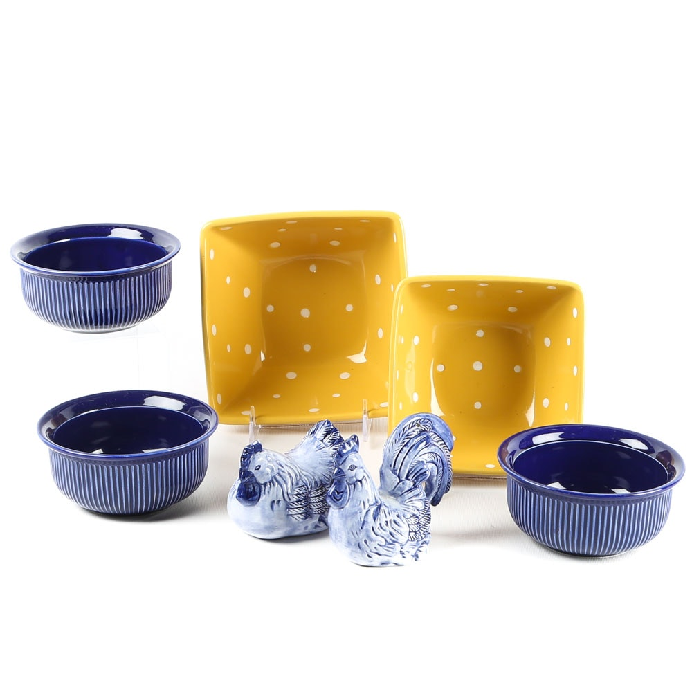 Eclectic Grouping of Kitchen Ceramics