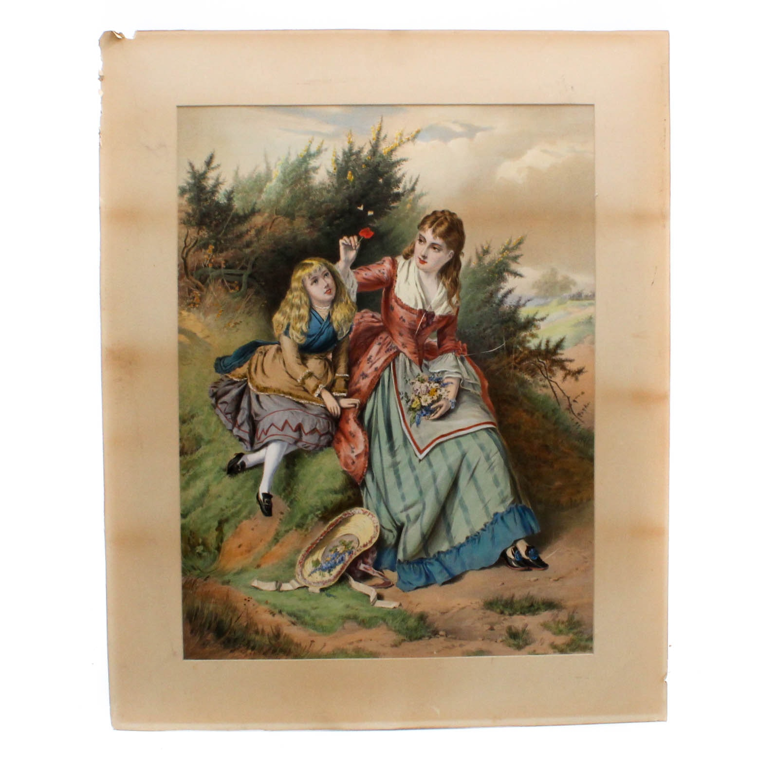 """""""The Sunny Side of Life"""" Chromolithograph After E. C. Barnes"""