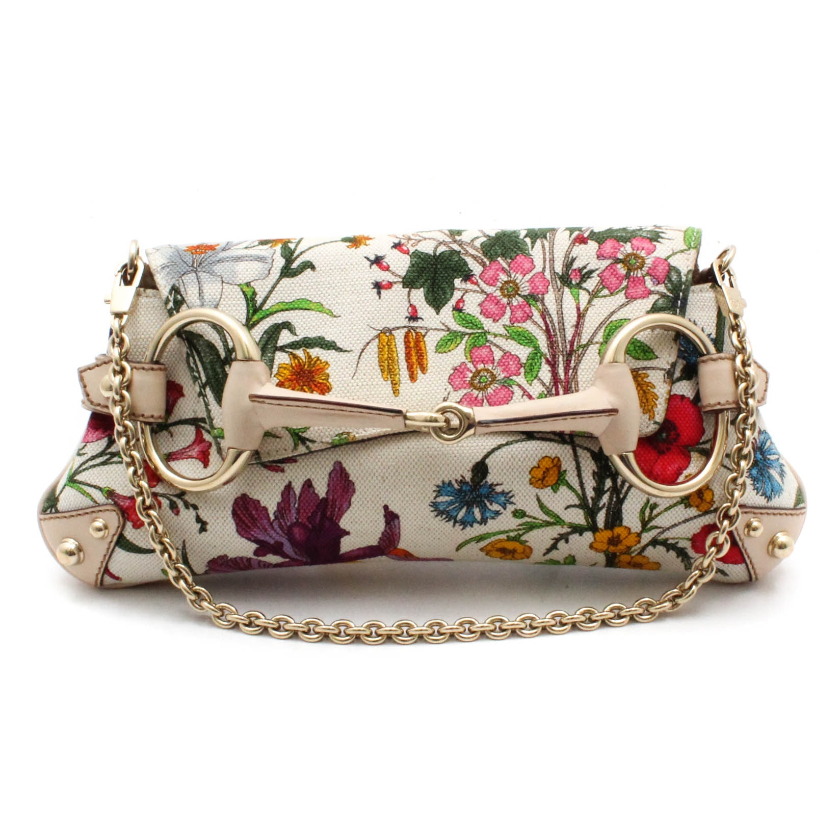 Gucci Flora Horsebit Flap Clutch