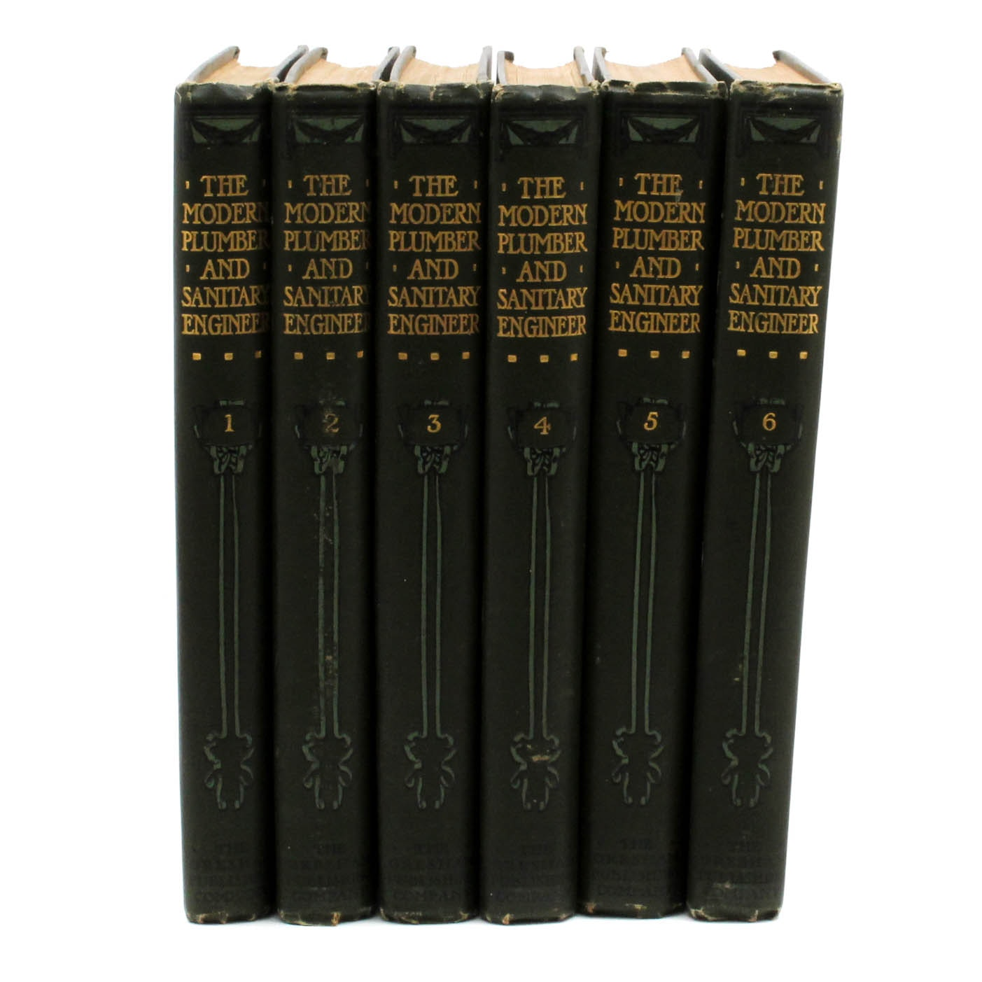 "1907 Complete Set of ""The Modern Plumber and Sanitary Engineer"""