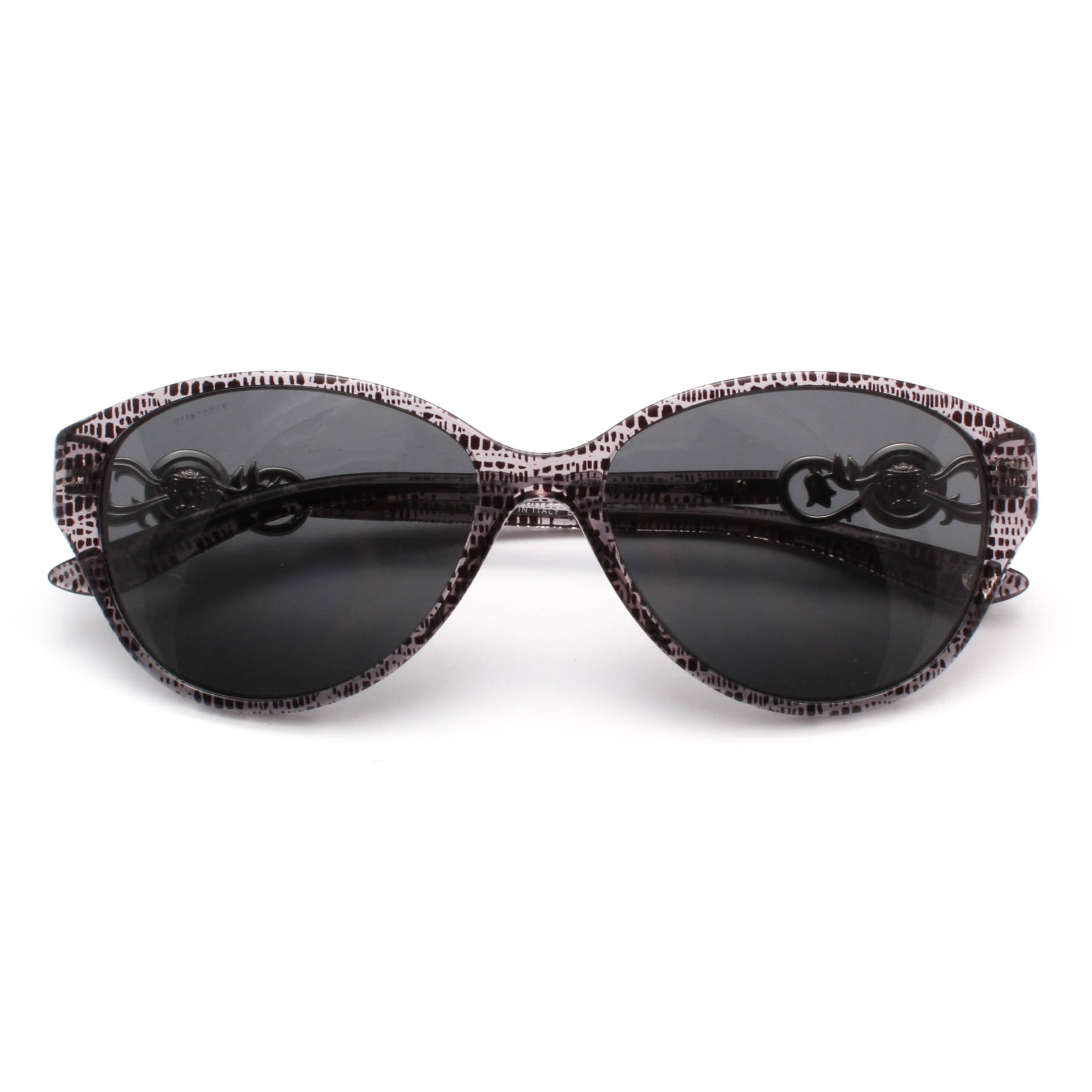 Versace Gray Barocco Signature Sunglasses