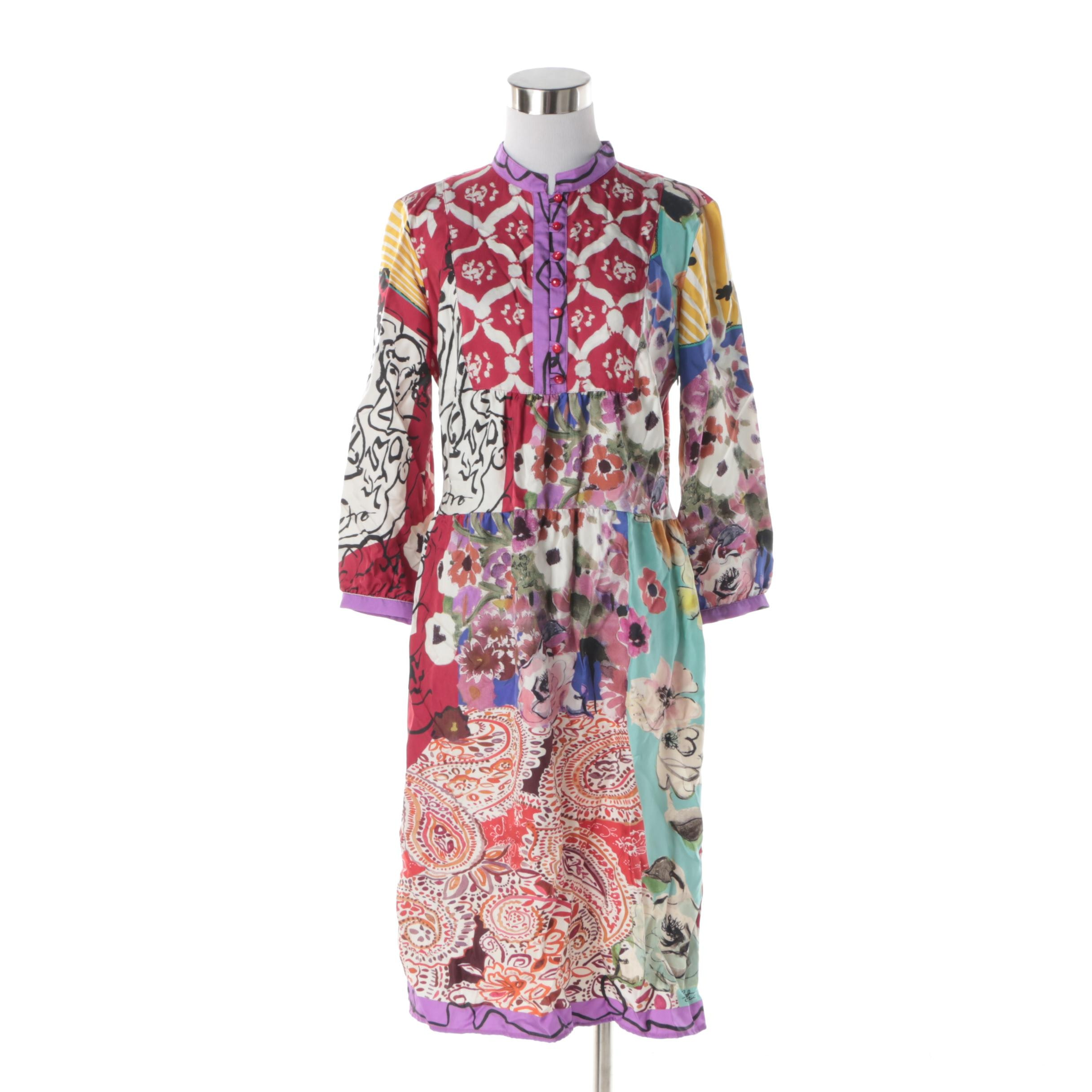 Etro Multicolored Silk Dress