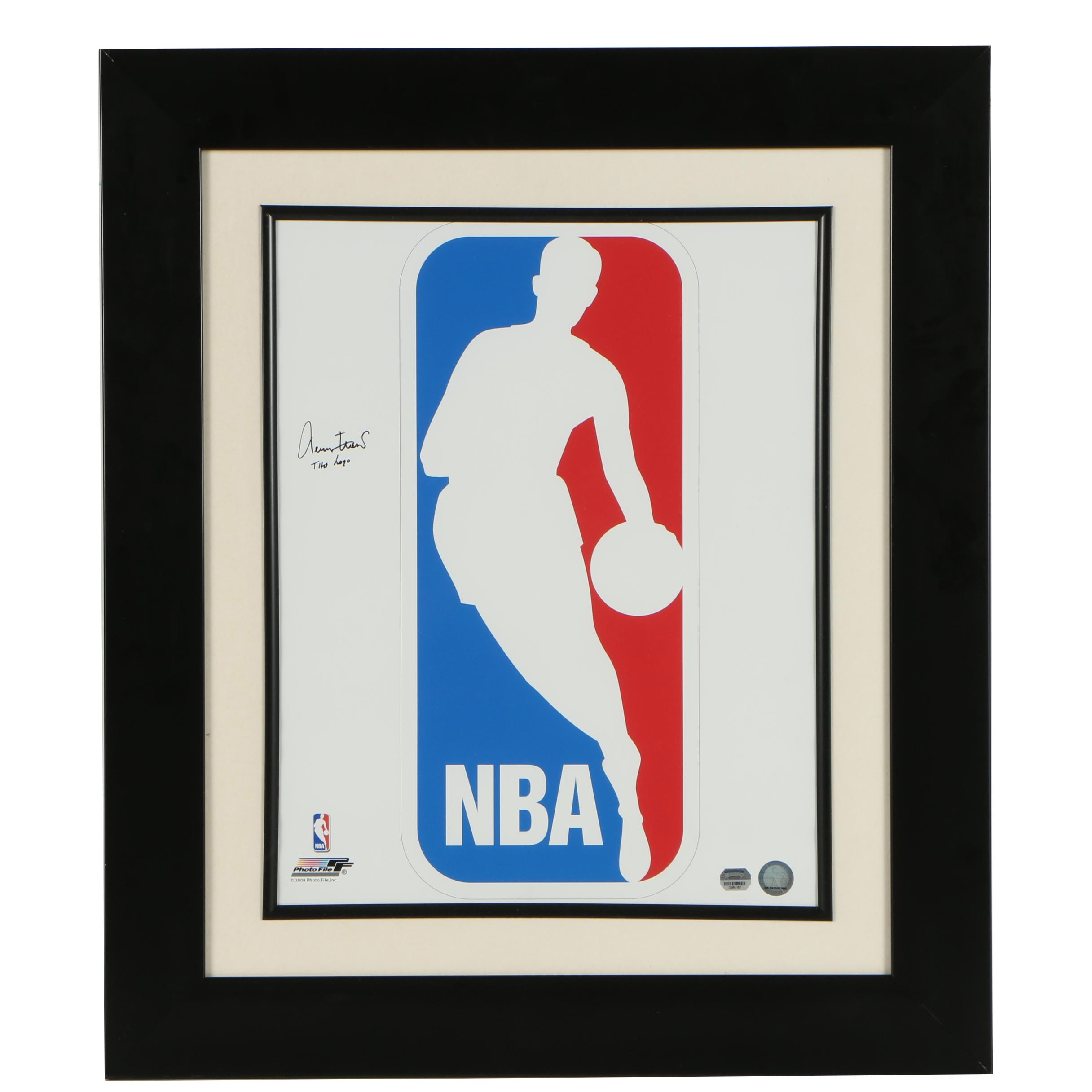 "Jerry West ""The Logo"" Autographed NBA Poster"