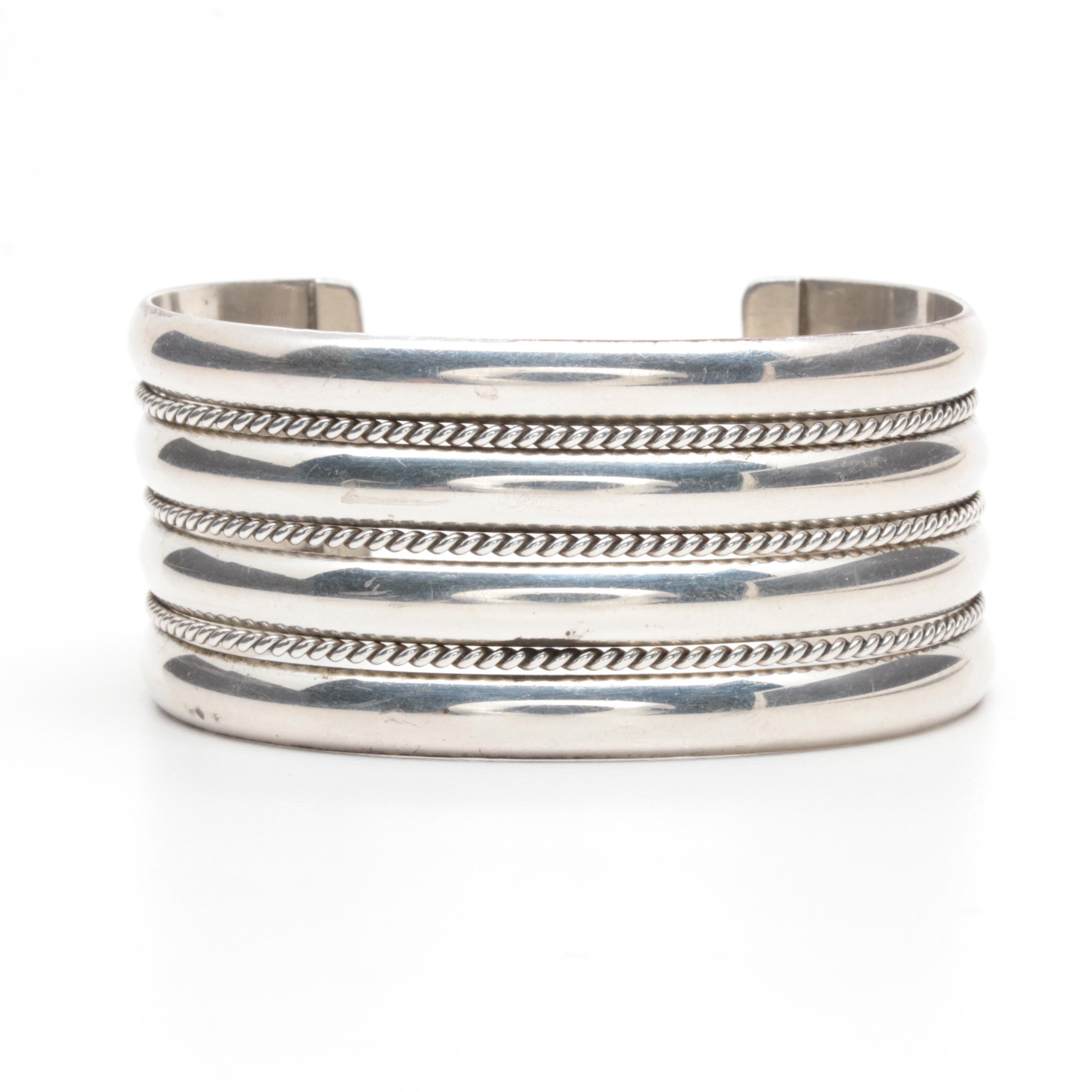 Tahe Family Navajo Diné Sterling Silver Cuff Bracelet