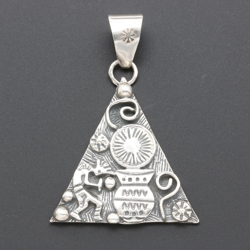 Mexican made sterling silver pendant ebth mexican made sterling silver pendant aloadofball Gallery