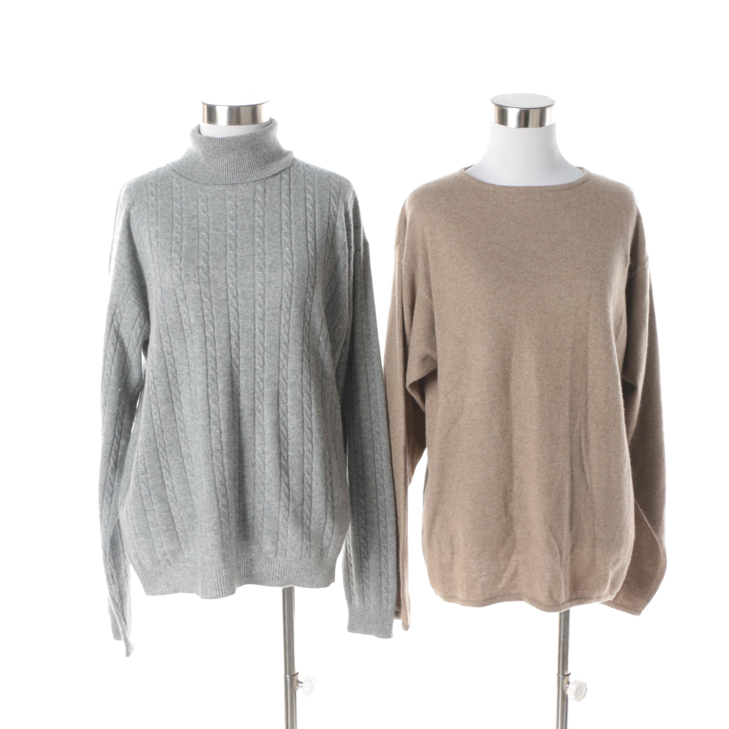 Two Womens Cashmere Sweaters