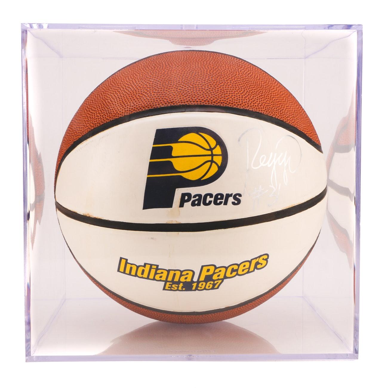 Reggie Miller Signed Pacers Basketball  COA