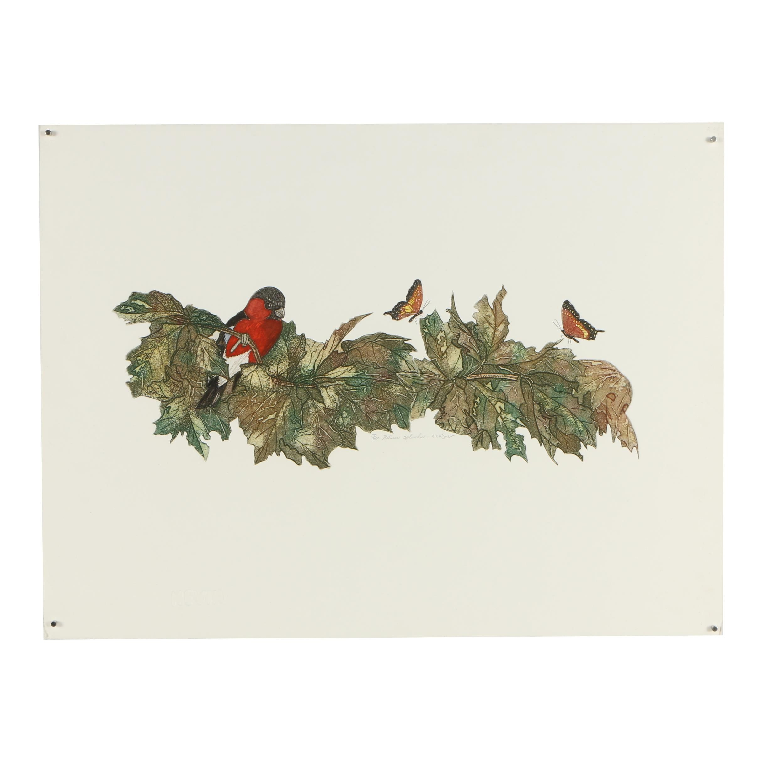 "Rickson Limited Edition Color Etching ""Nature's Splendor"""