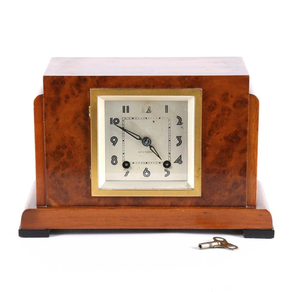 Seth Thomas Art Deco Inspired Mantel Clock