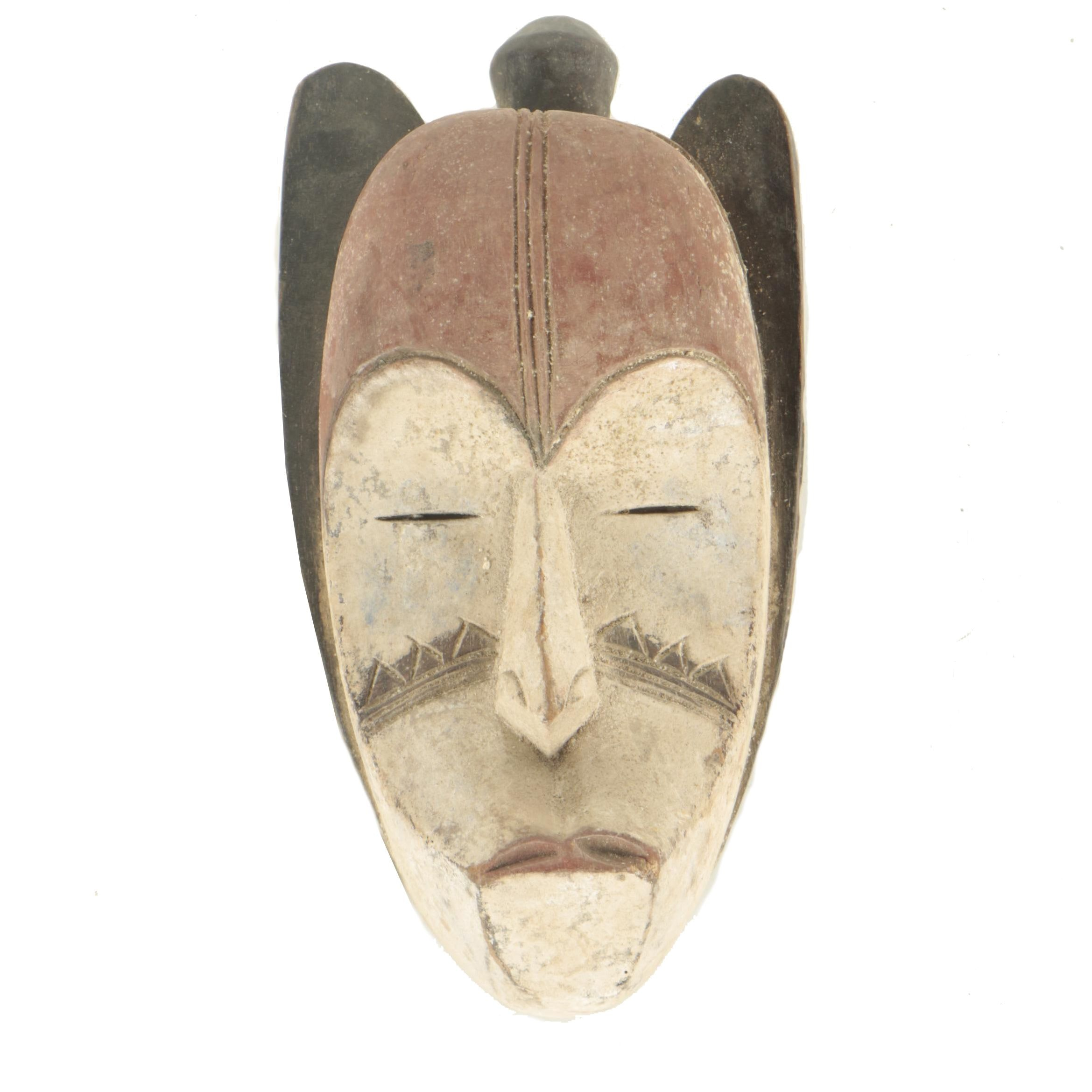 20th Century Hand-Carved Vuvi Style Wooden Mask