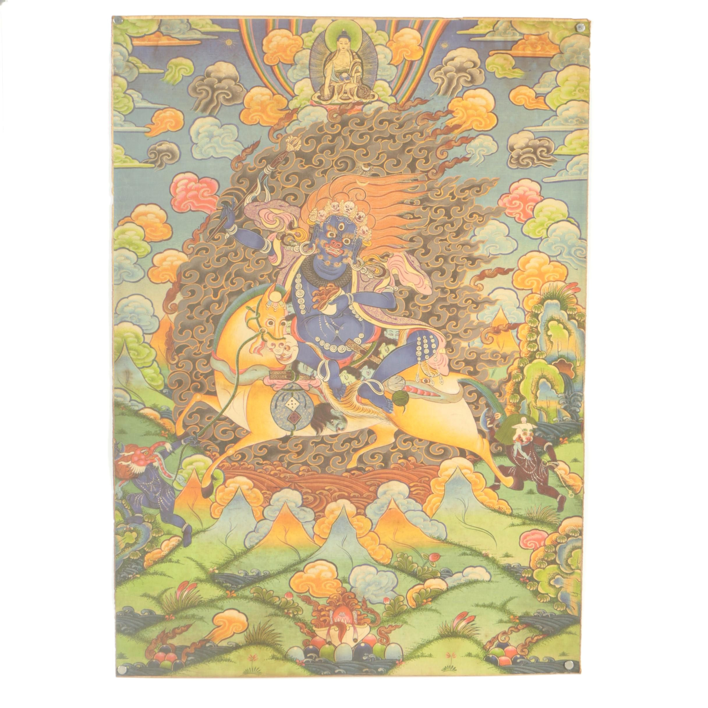 Late 20th to 21st Century Tibetan Style Giclée