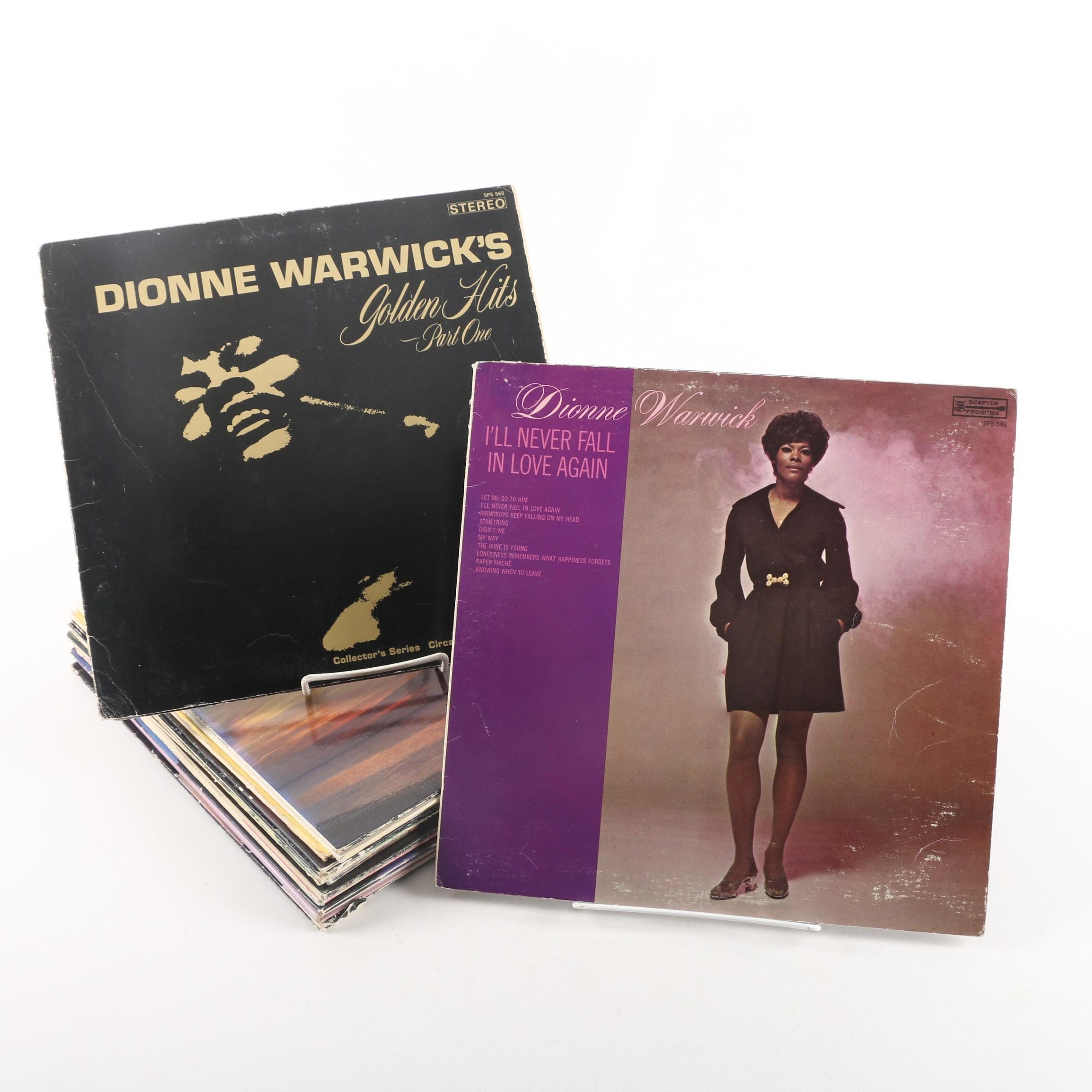 Vintage Pop and Soul Records Including Dionne Warwick and The Supremes