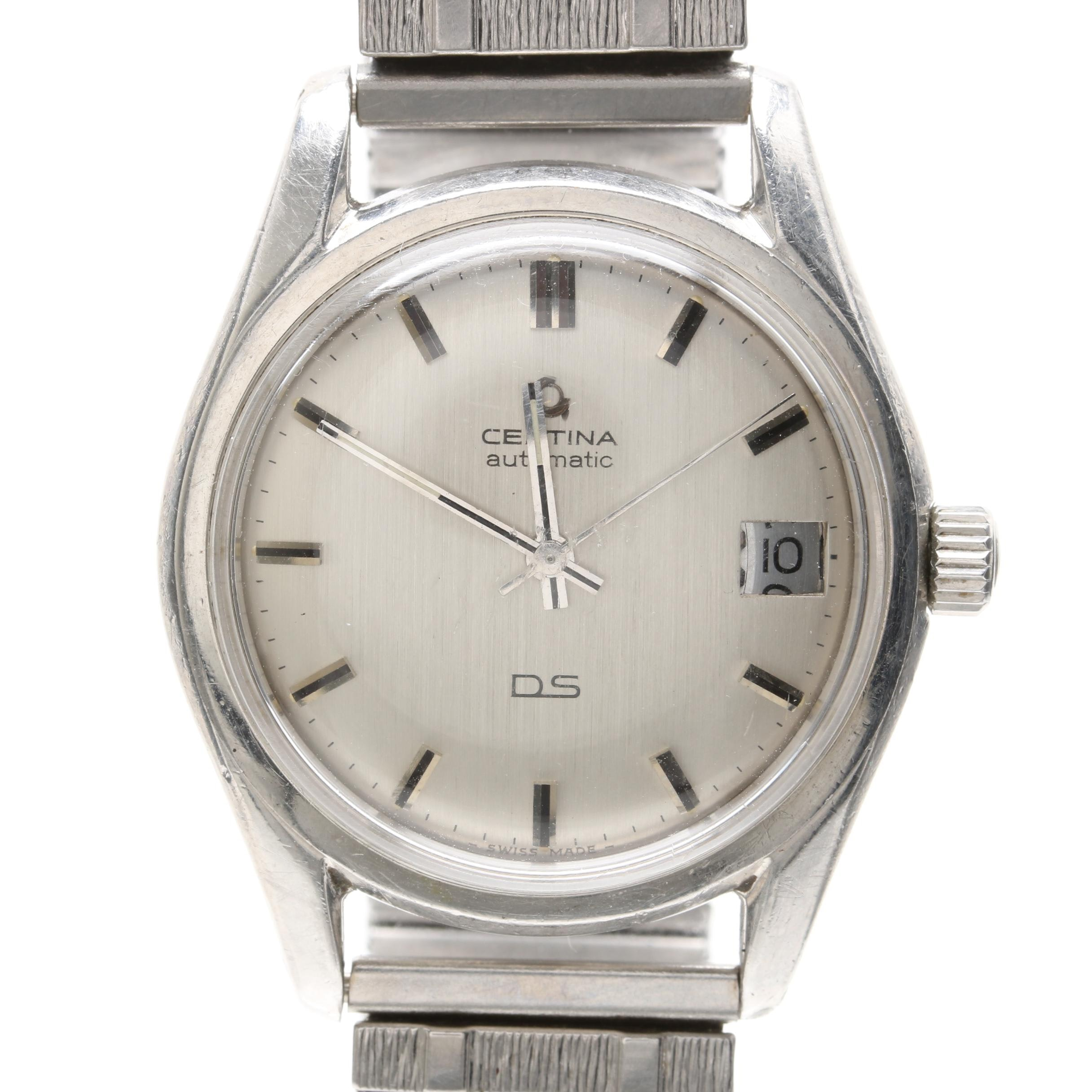 """Certina """"Double Security"""" Stainless Steel Wristwatch"""