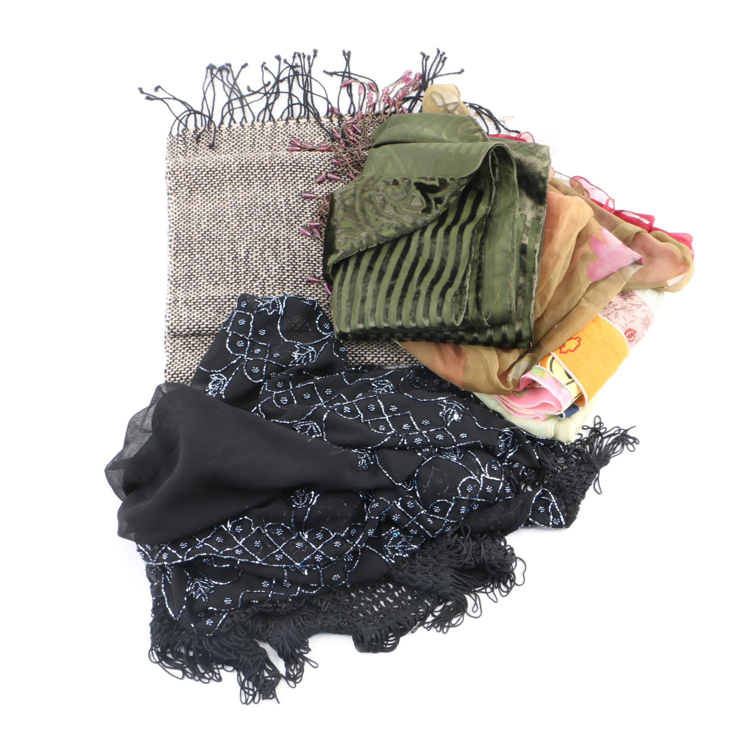 Scarves Including Beaded and Handmade by Studio Piio Finland