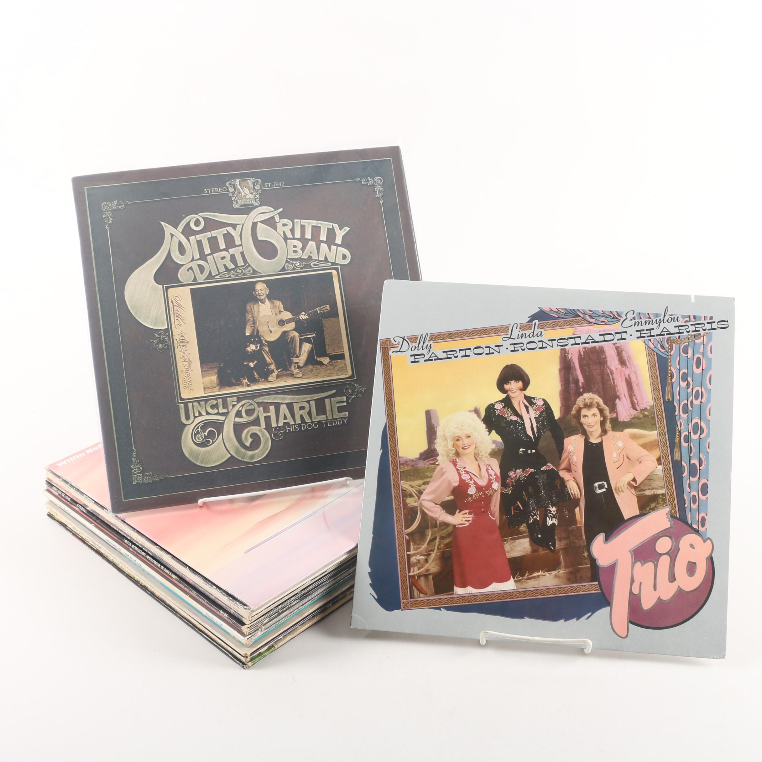 Vintage Country and Easy Listening Records Including Linda Ronstadt