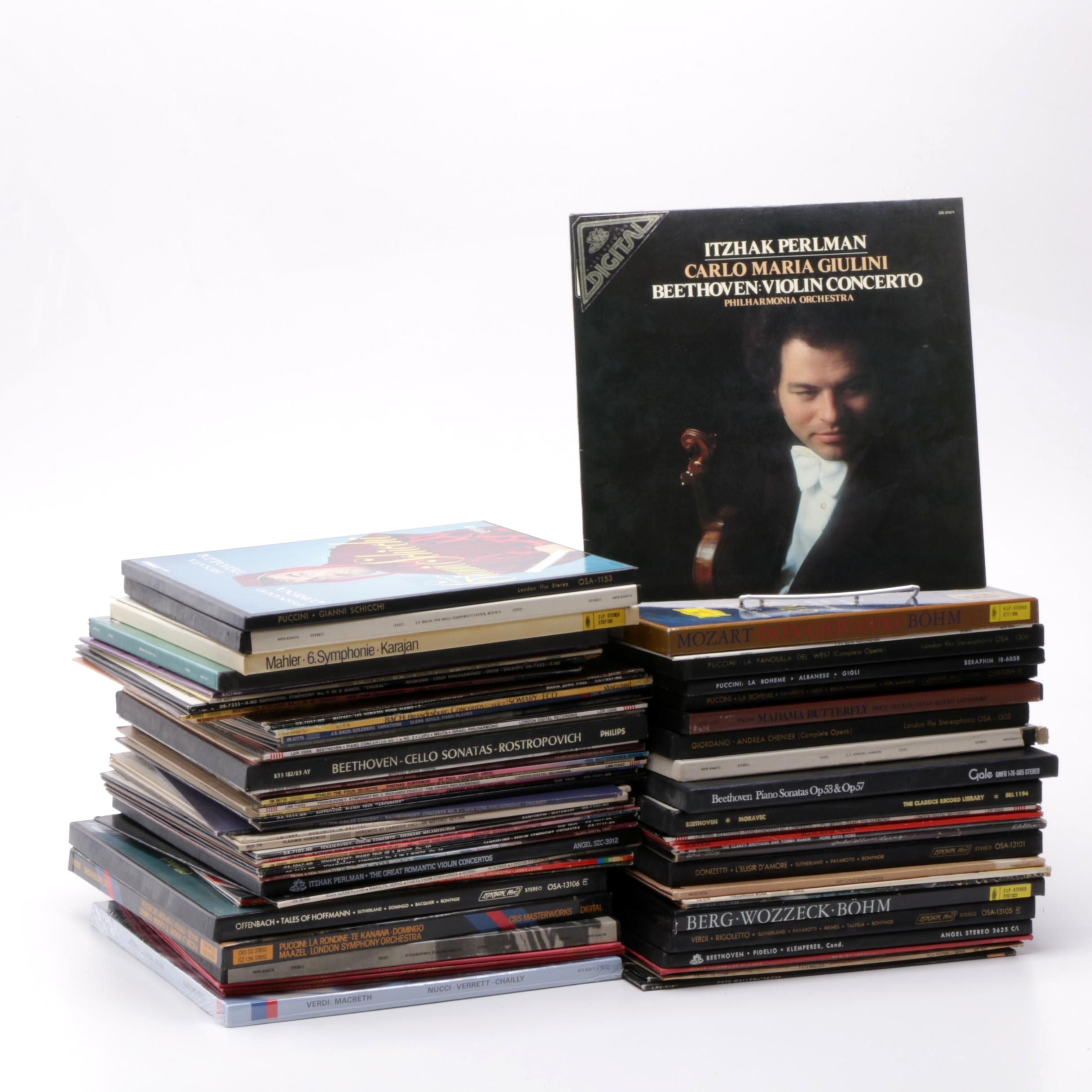 Classical and Jazz Vinyl LPs Including Beethoven, Mahler and Puccini