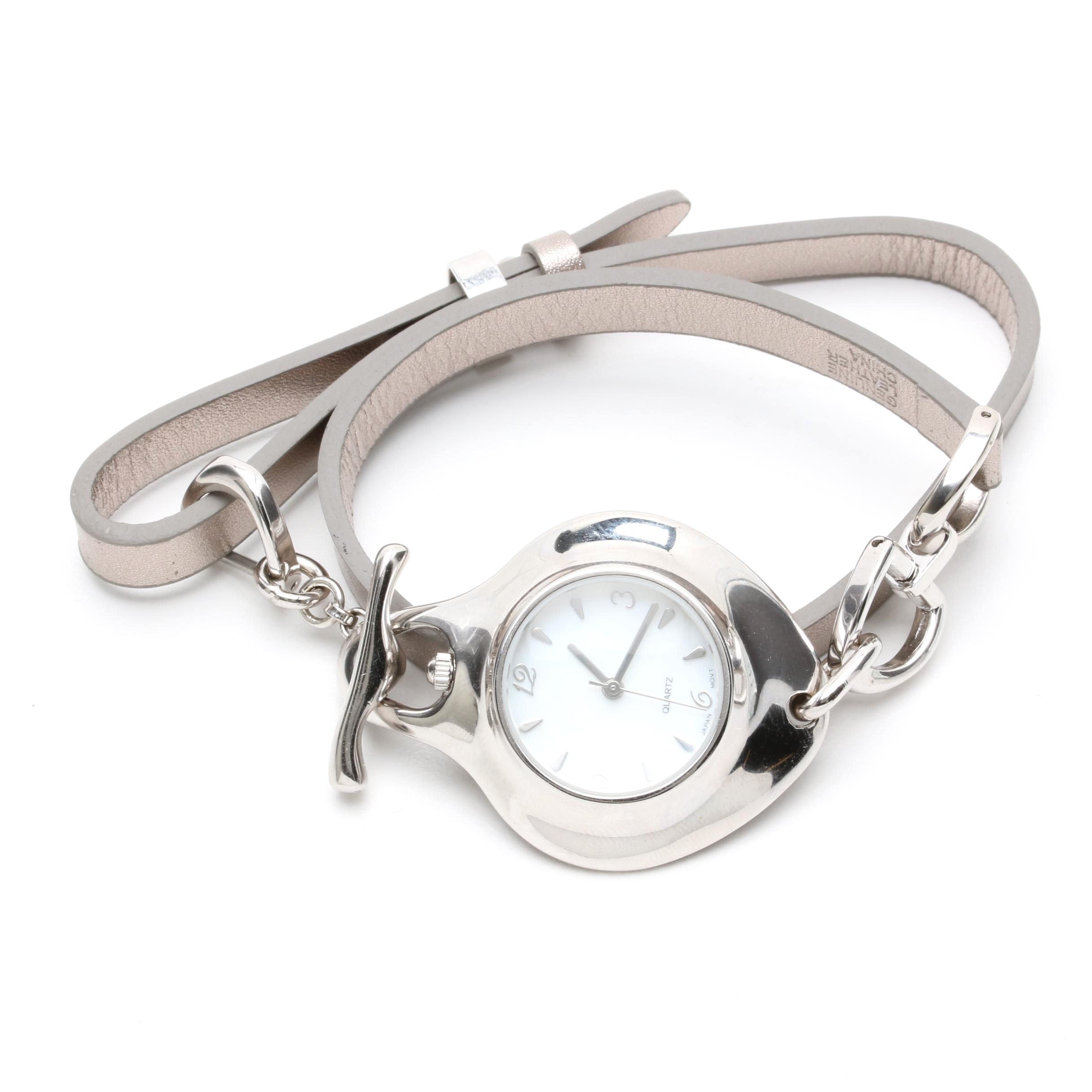 Robert Lee Morris Sterling Silver Wristwatch