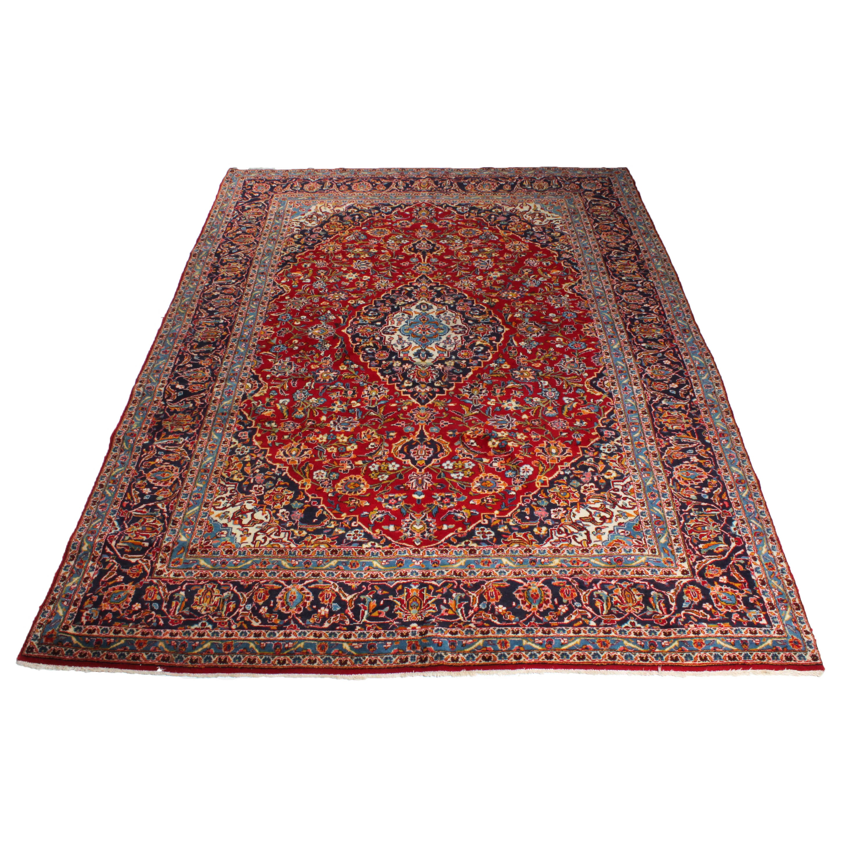 7'10 x 11'7 Hand-Knotted Persian Ardekan Kashan Room Size Rug