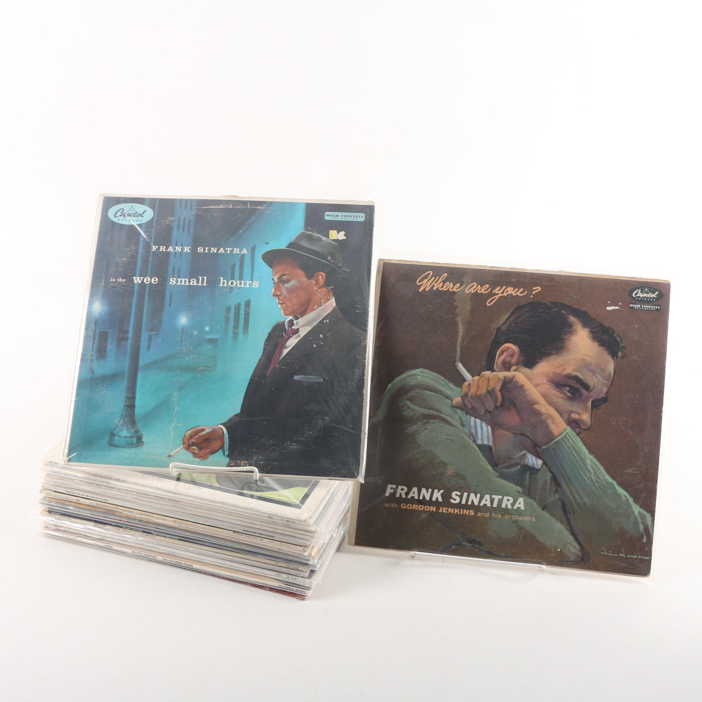 """Vintage Frank Sinatra Records Including """"Swing Easy"""" and """"Frankie and Tommy"""""""