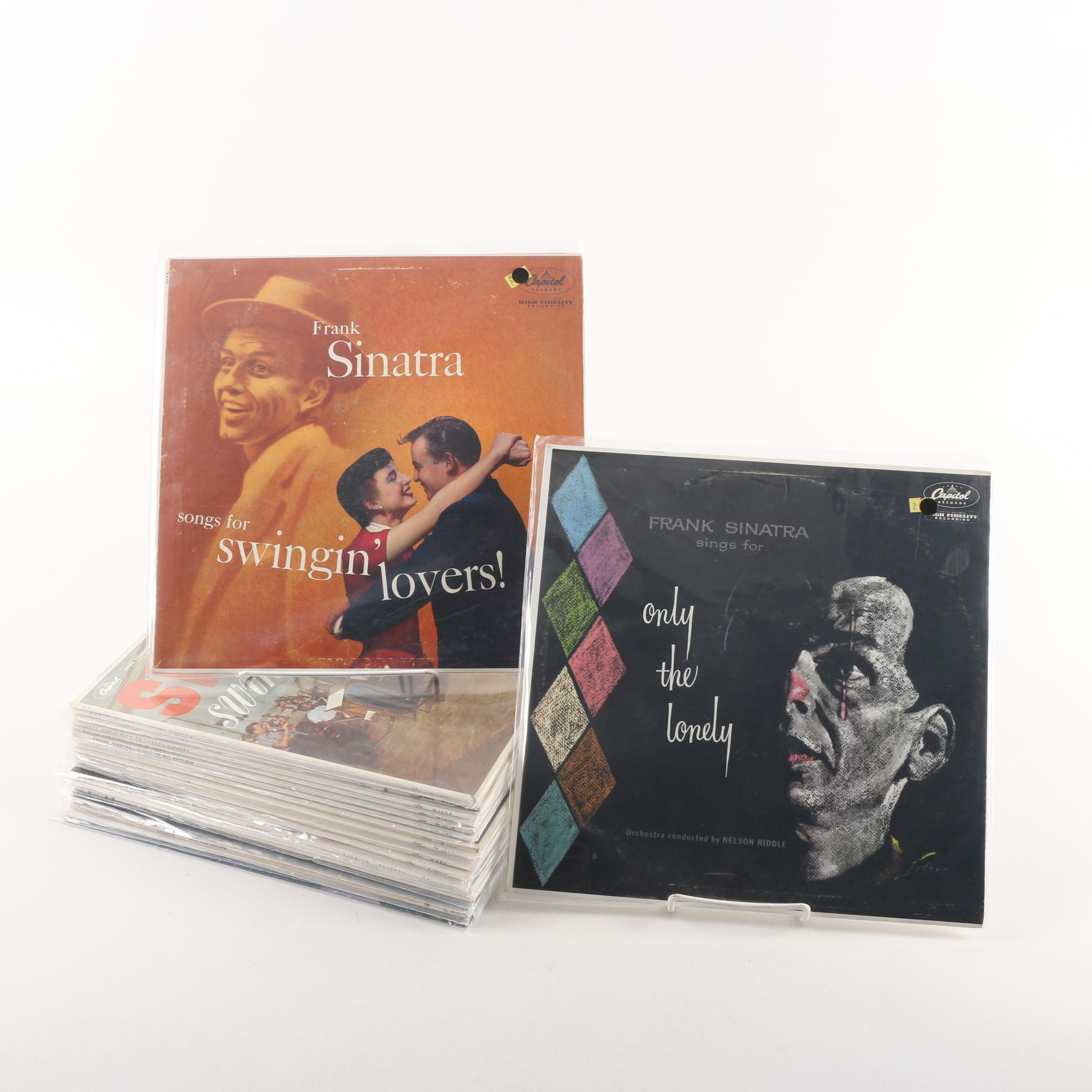 """Vintage Frank Sinatra Records Including """"Come Fly with Me"""" and """"This Is Sinatra"""""""