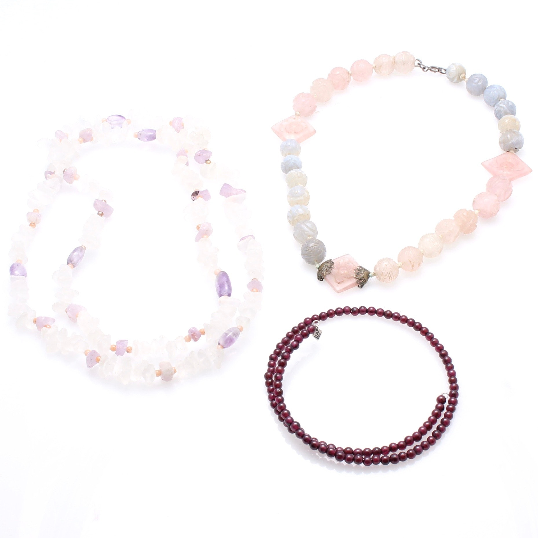 Sterling Silver Accented Gemstone Beaded Necklaces Including Silpada