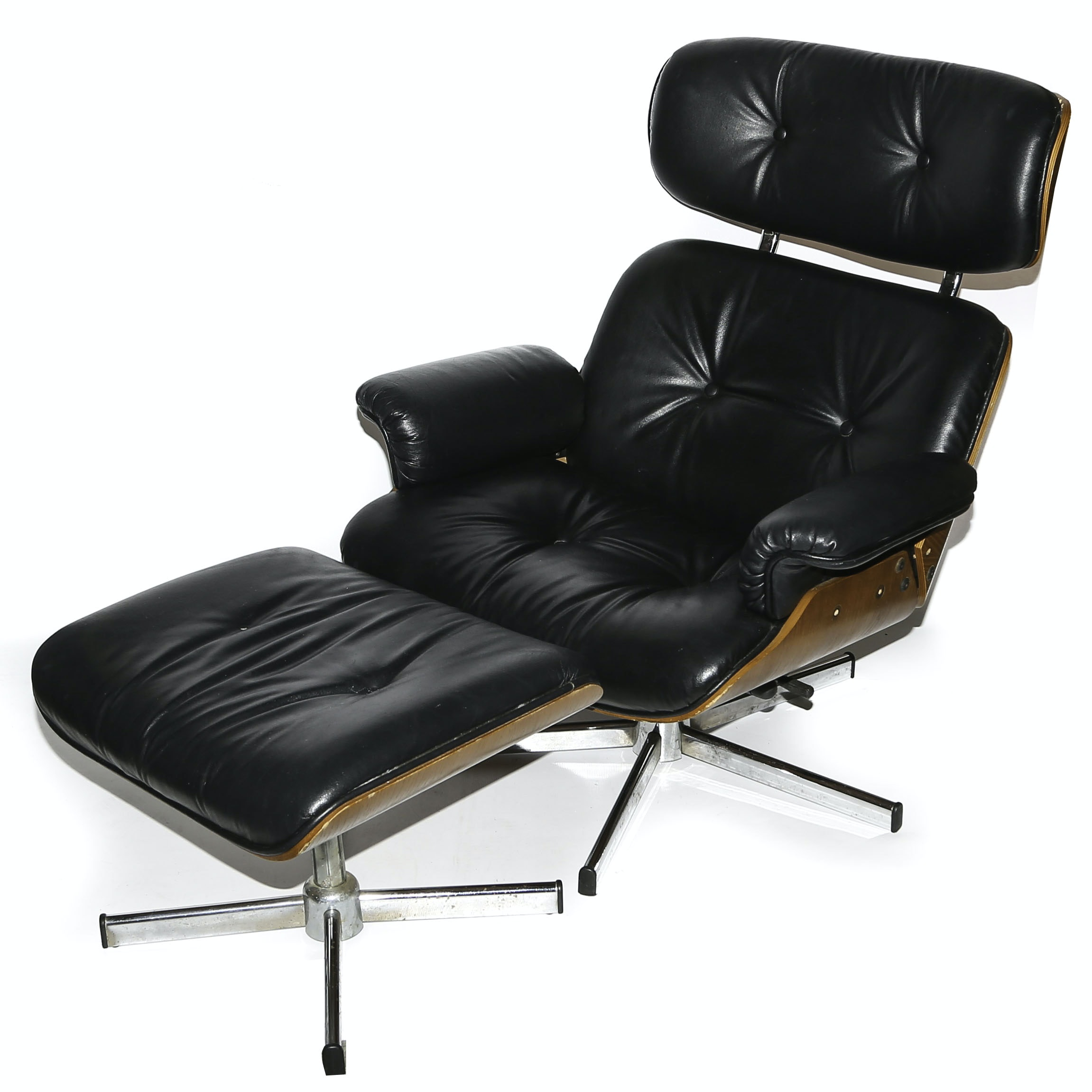 Vintage Eames Style Chair and Ottoman
