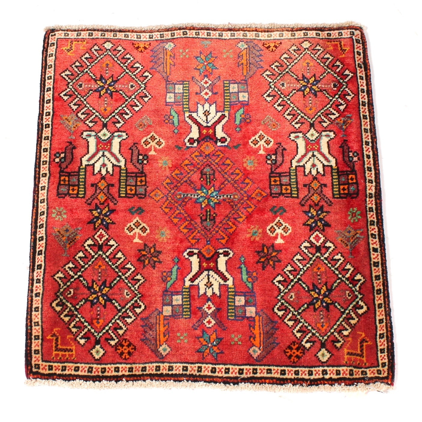Vintage Hand-Knotted Persian Viss Rug